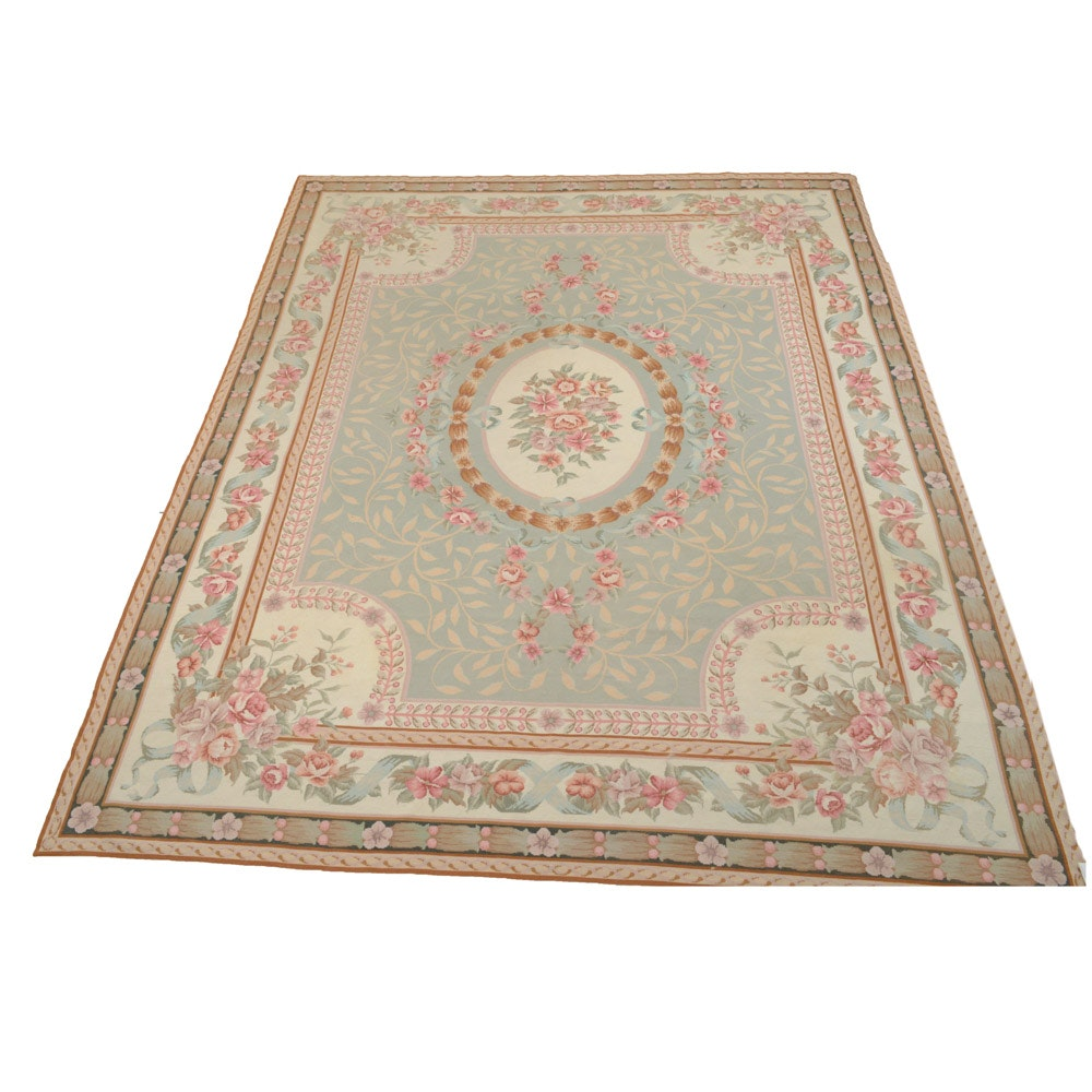 Hand-Knotted Sino-French Aubusson Rug