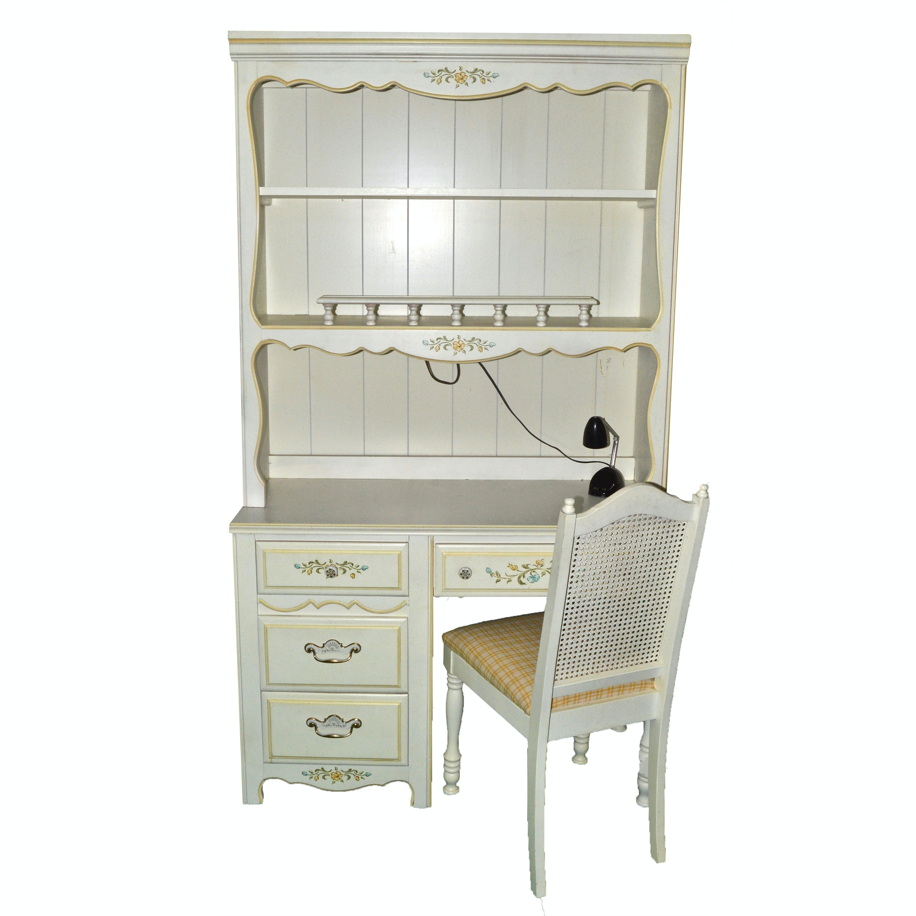 French Country Inspired Desk and Hutch