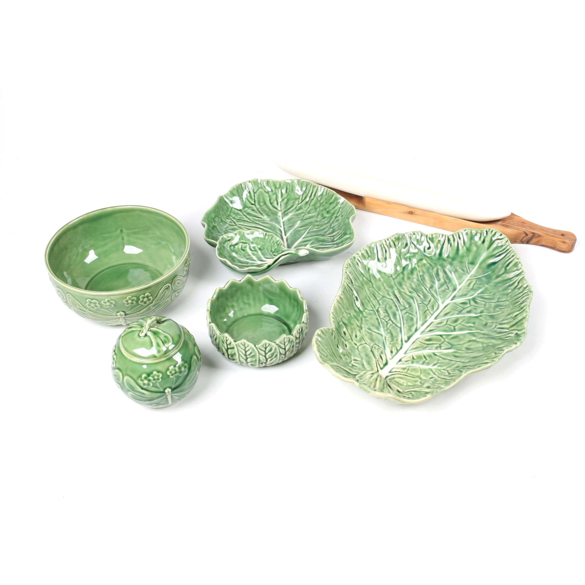 Portuguese Tableware including Bordallo Pinheiro \ Cabbage Green\  ...  sc 1 st  Everything But The House & Portuguese Tableware including Bordallo Pinheiro \