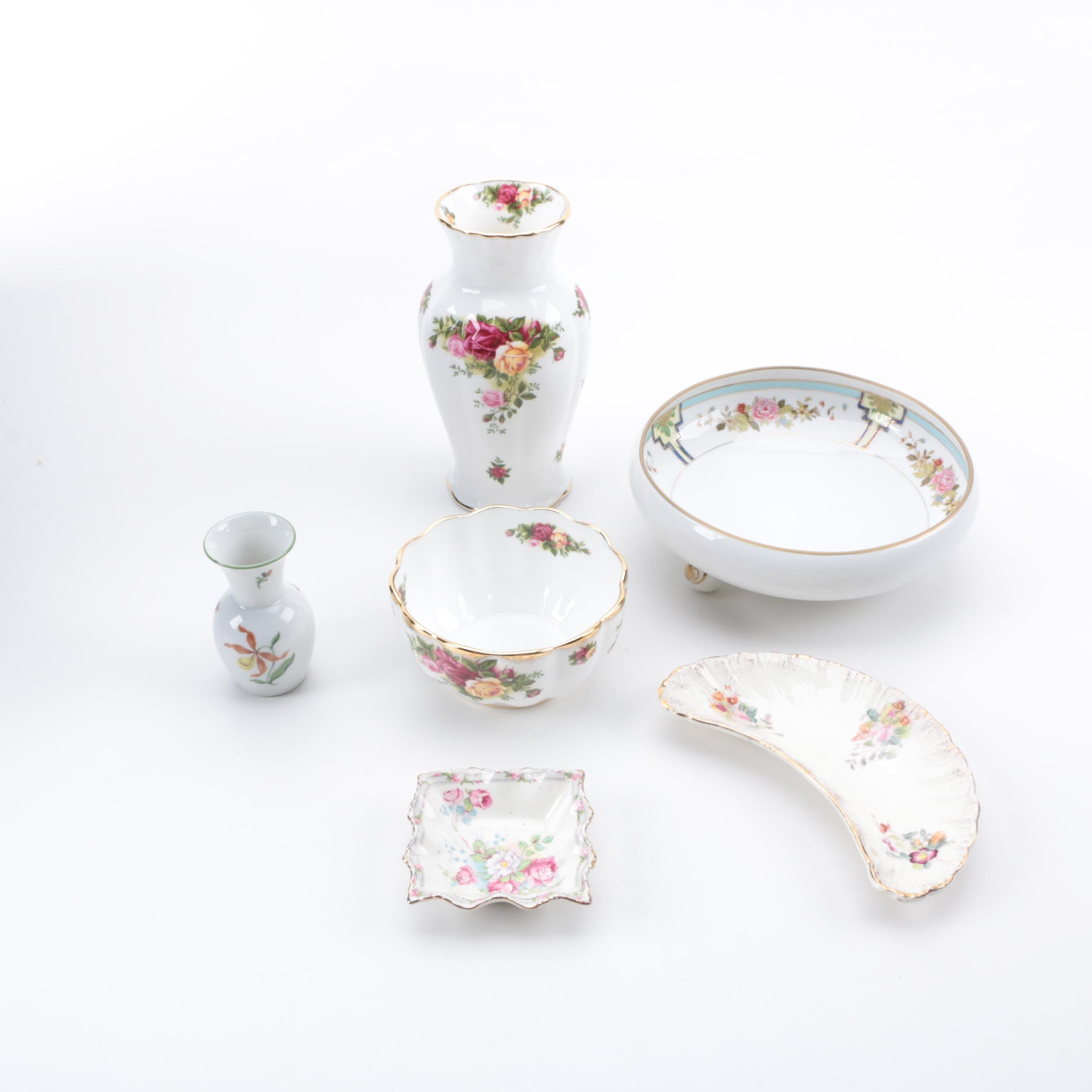 Porcelain Assortment Including Royal Albert and Nippon