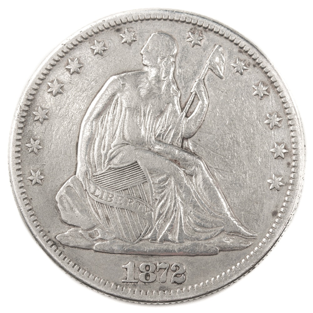 1872 Carson City Seated Liberty Half-Dollar