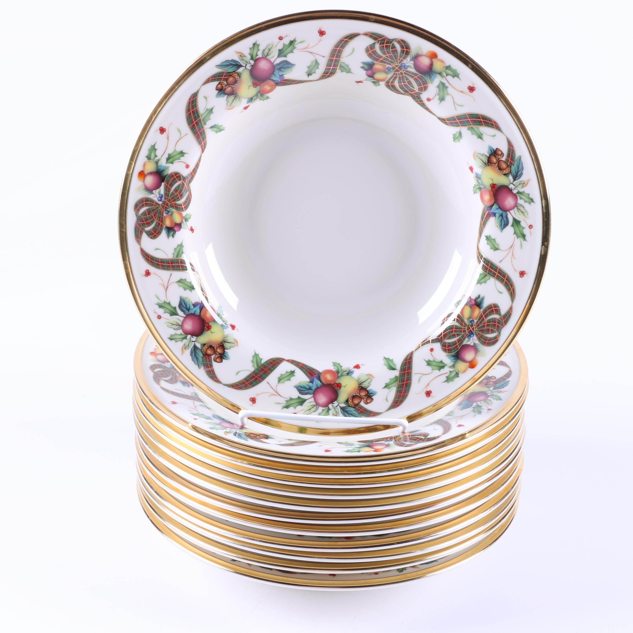 Lenox \ Holiday Tartan\  Bone China Bowls ...  sc 1 st  EBTH.com & Lenox \