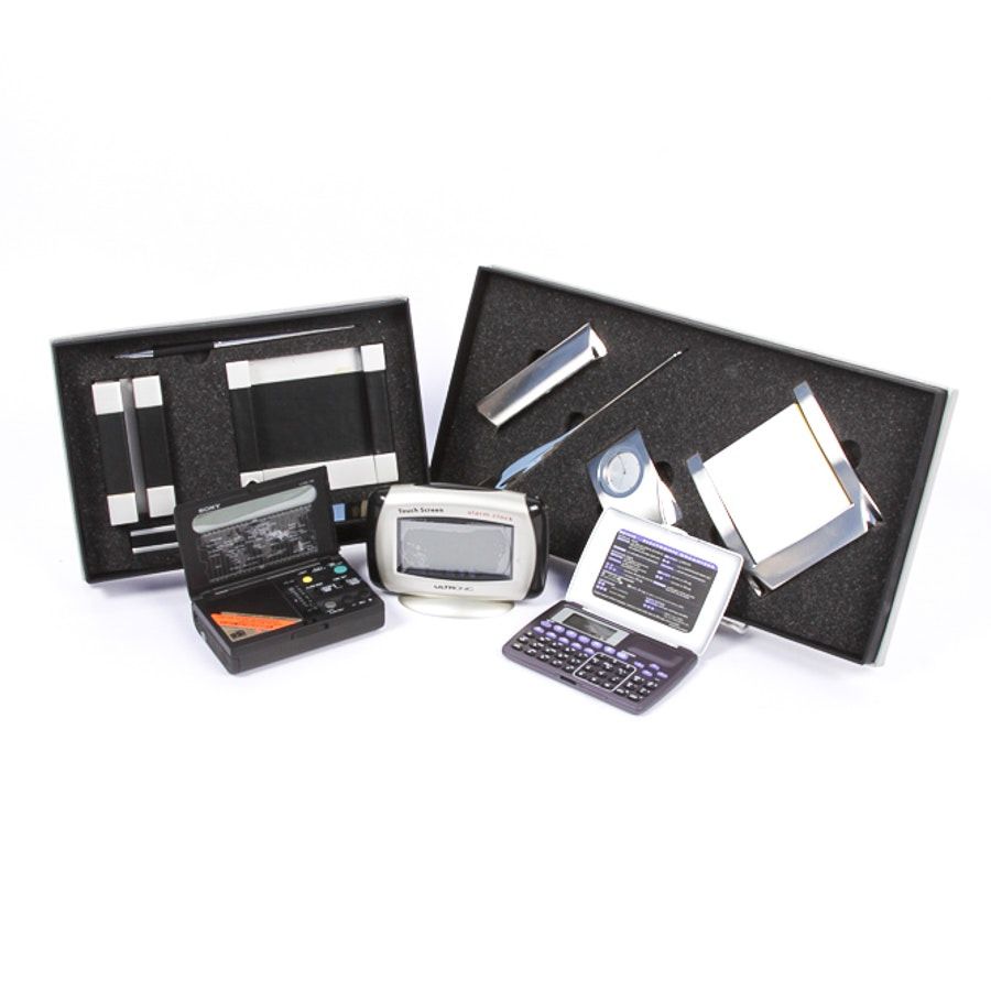 Variety of Desk Accessories and Electronics