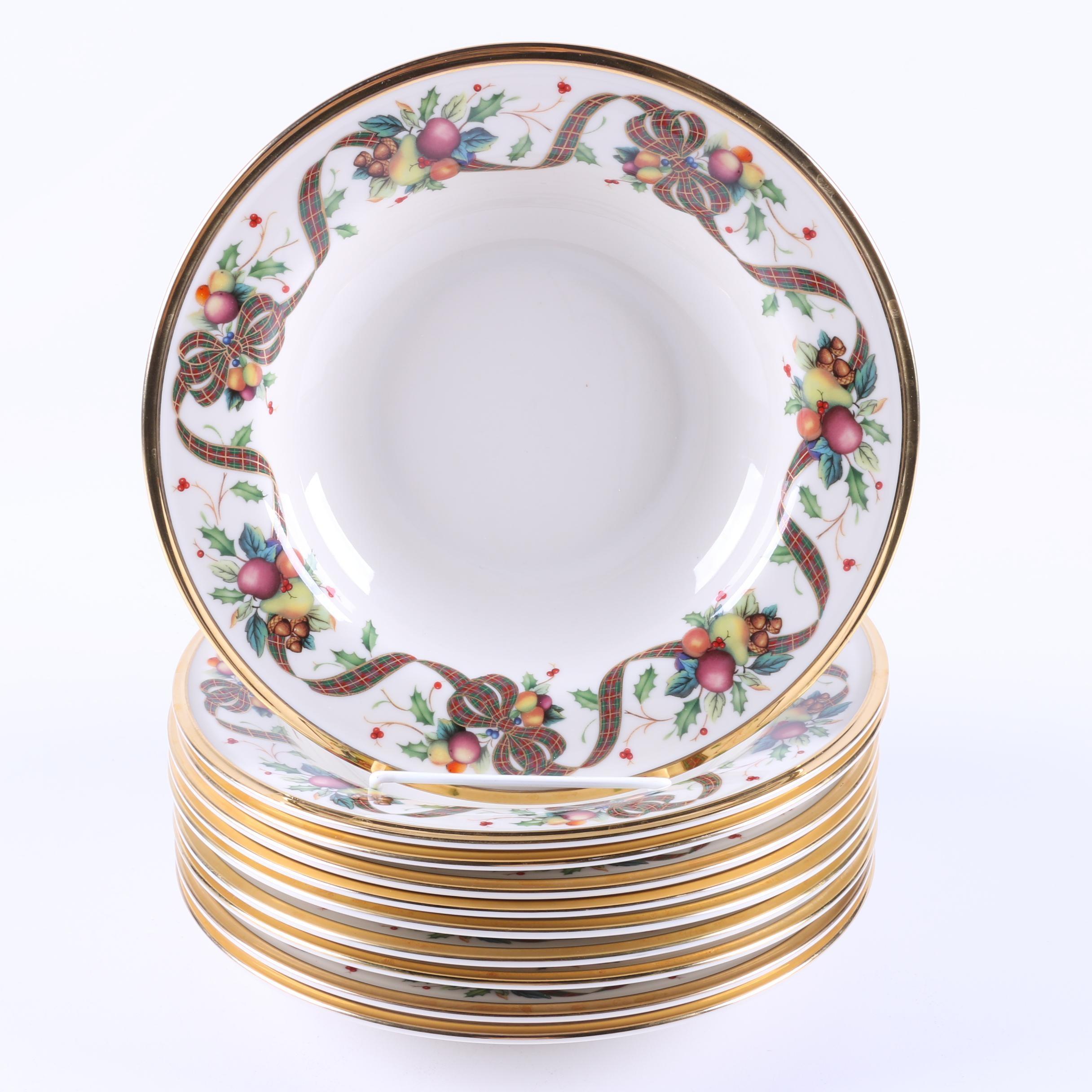 "Lenox ""Holiday Tartan"" Porcelain Bowls"