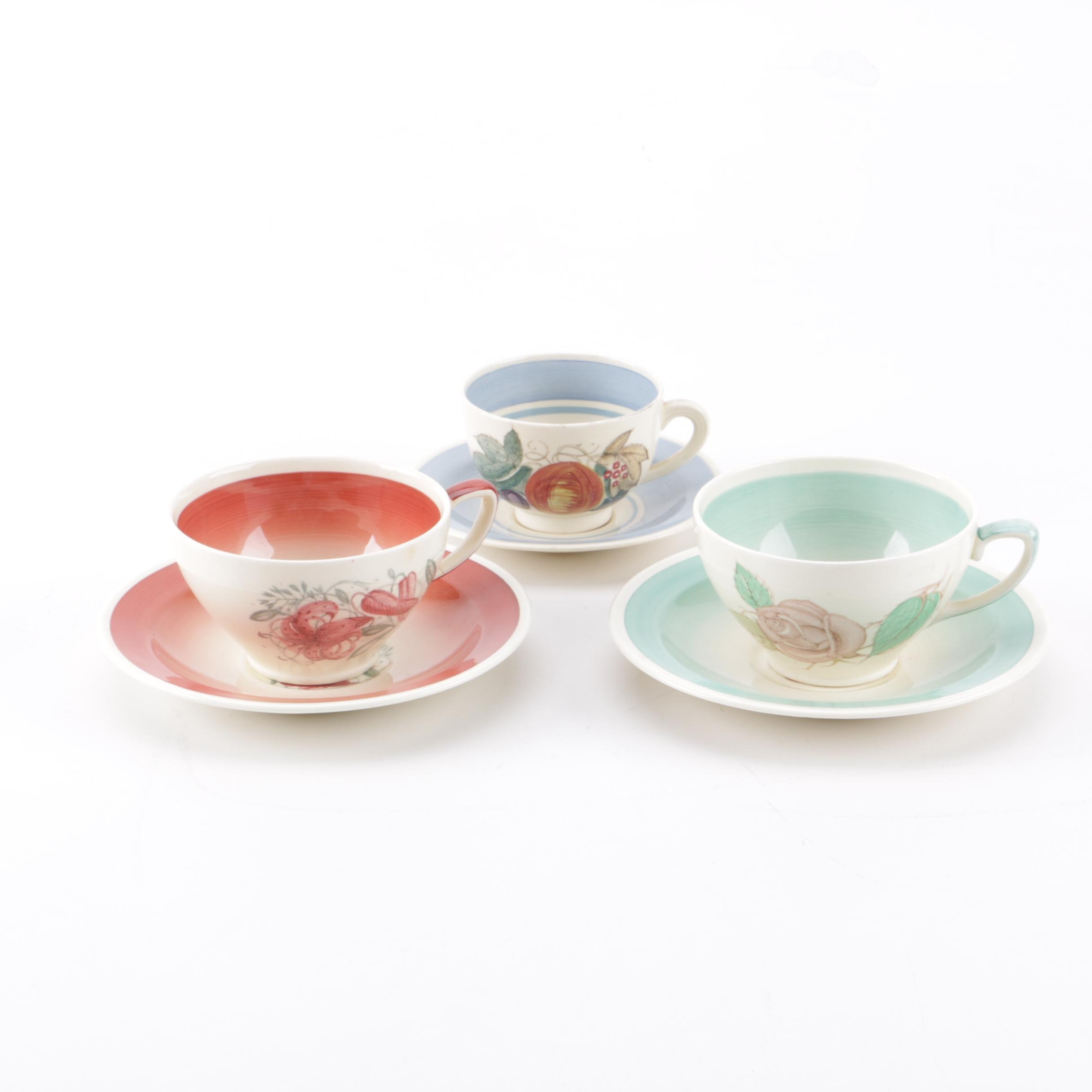 Tea Cups and Saucers including Susie Cooper