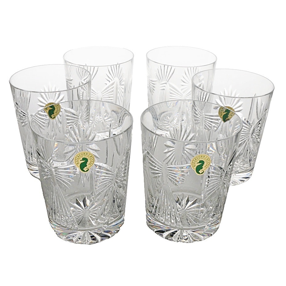Waterford Crystal Universal Wishes Double Old Fashion Tumblers