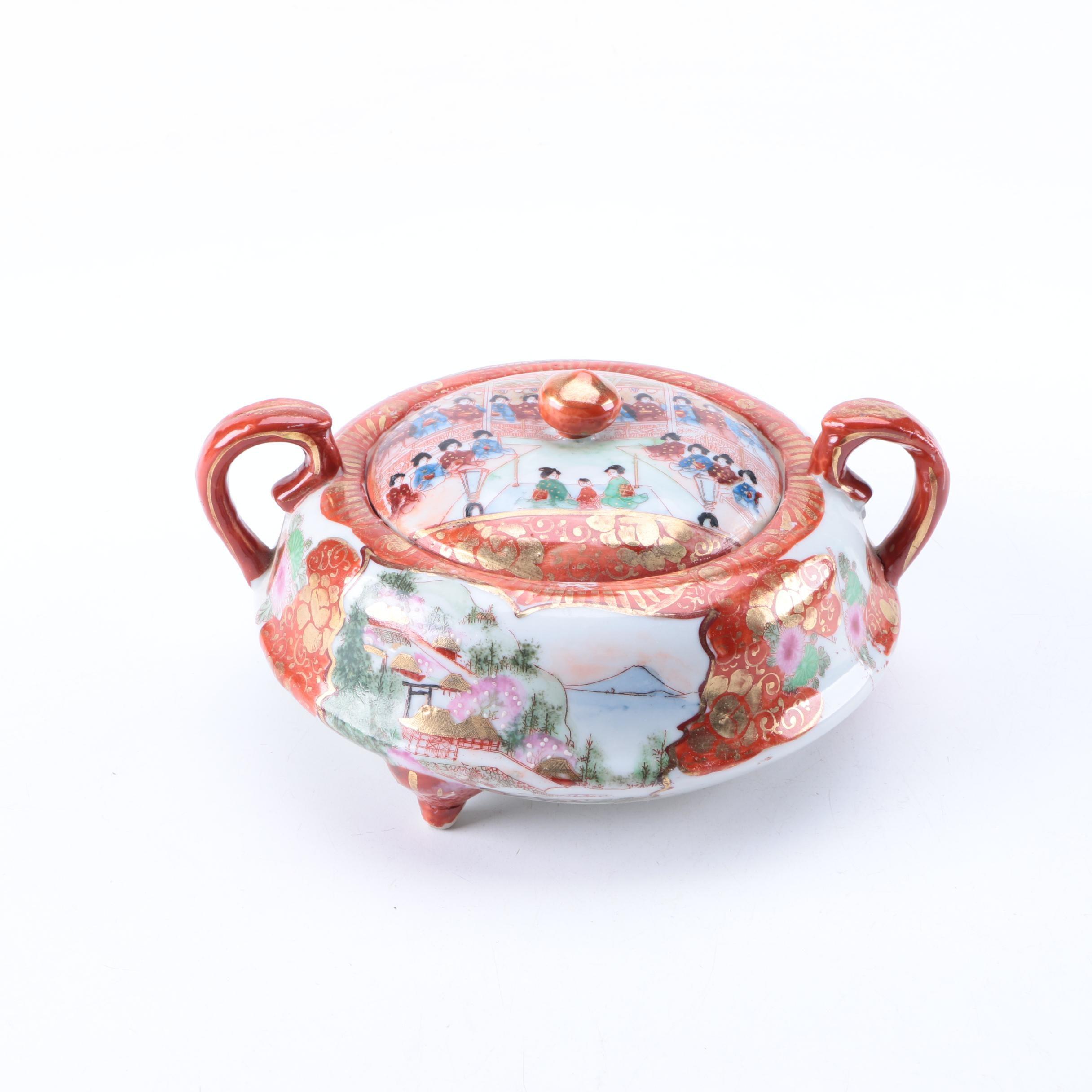 Japanese Handmade Sugar Bowl