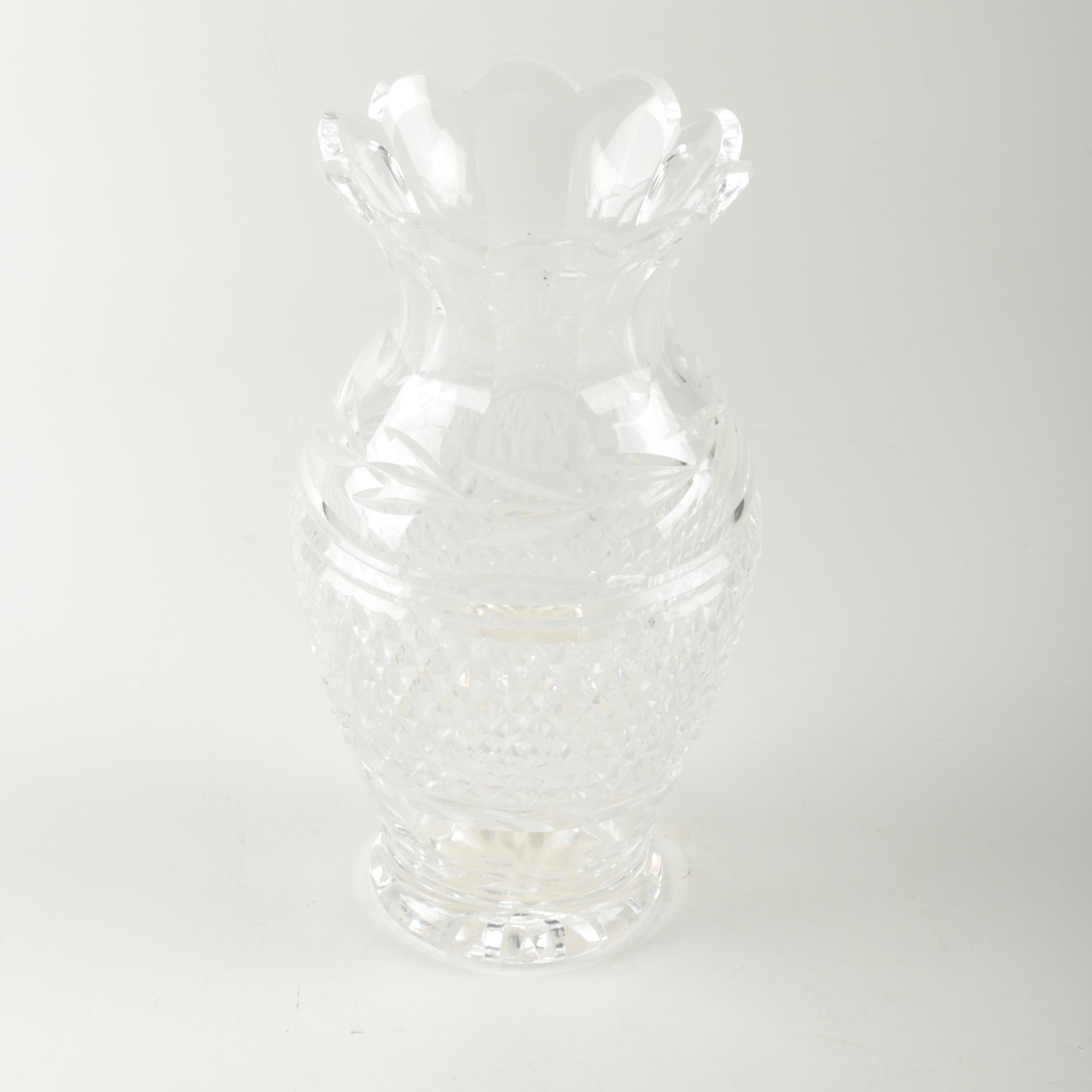 Crystal Footed Vase