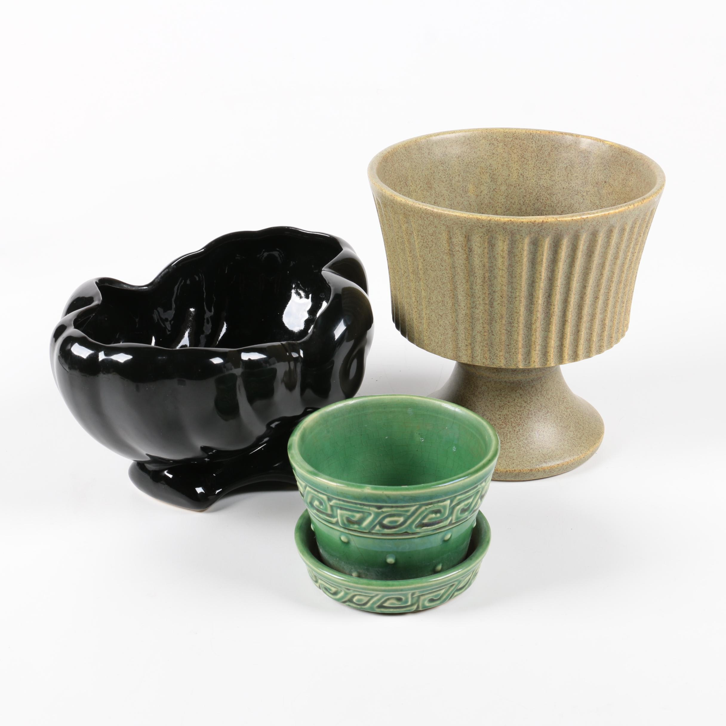 Selection of Three Mid Century Pottery Planters including McCoy