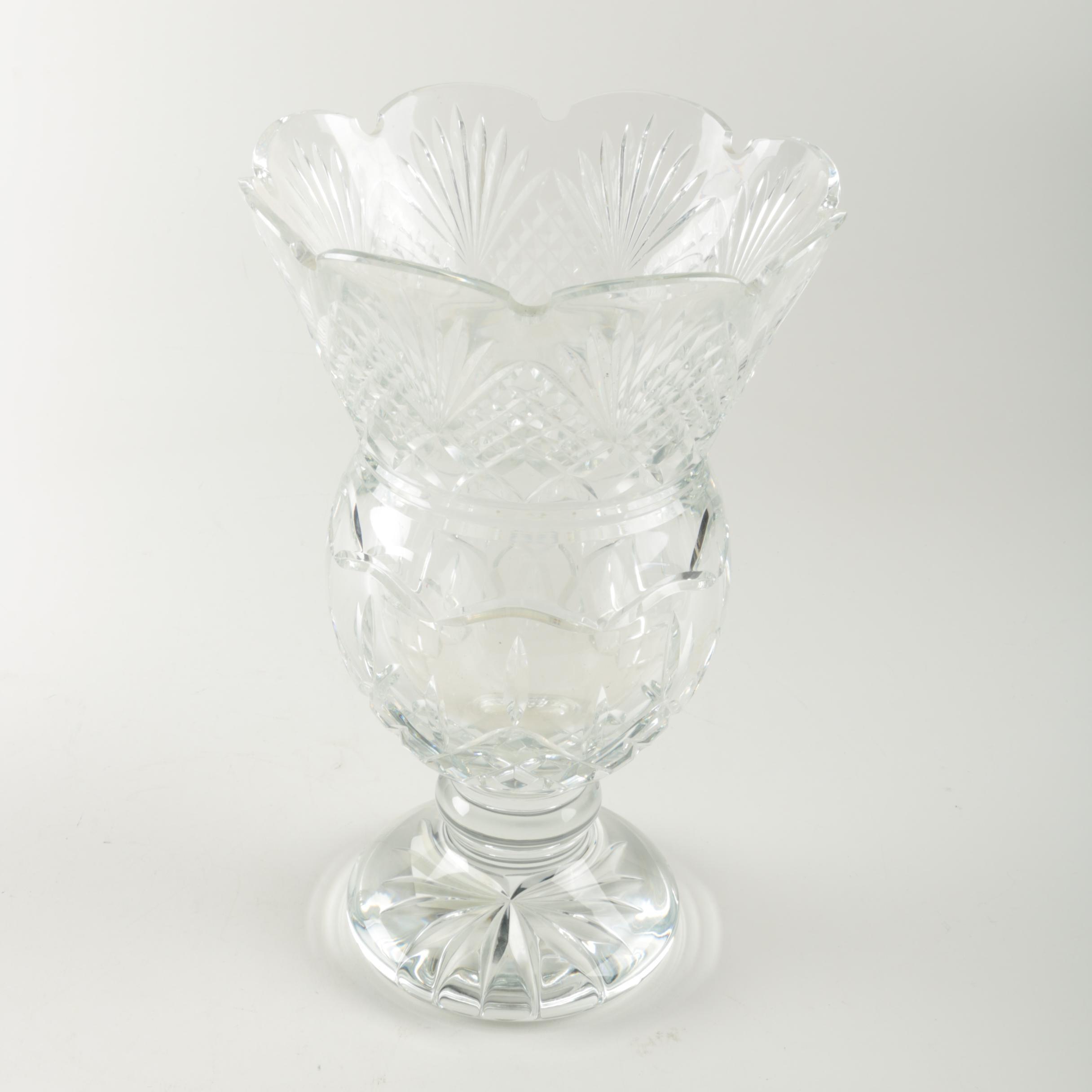 "Waterford Crystal ""Lismore Thistle"" Vase"