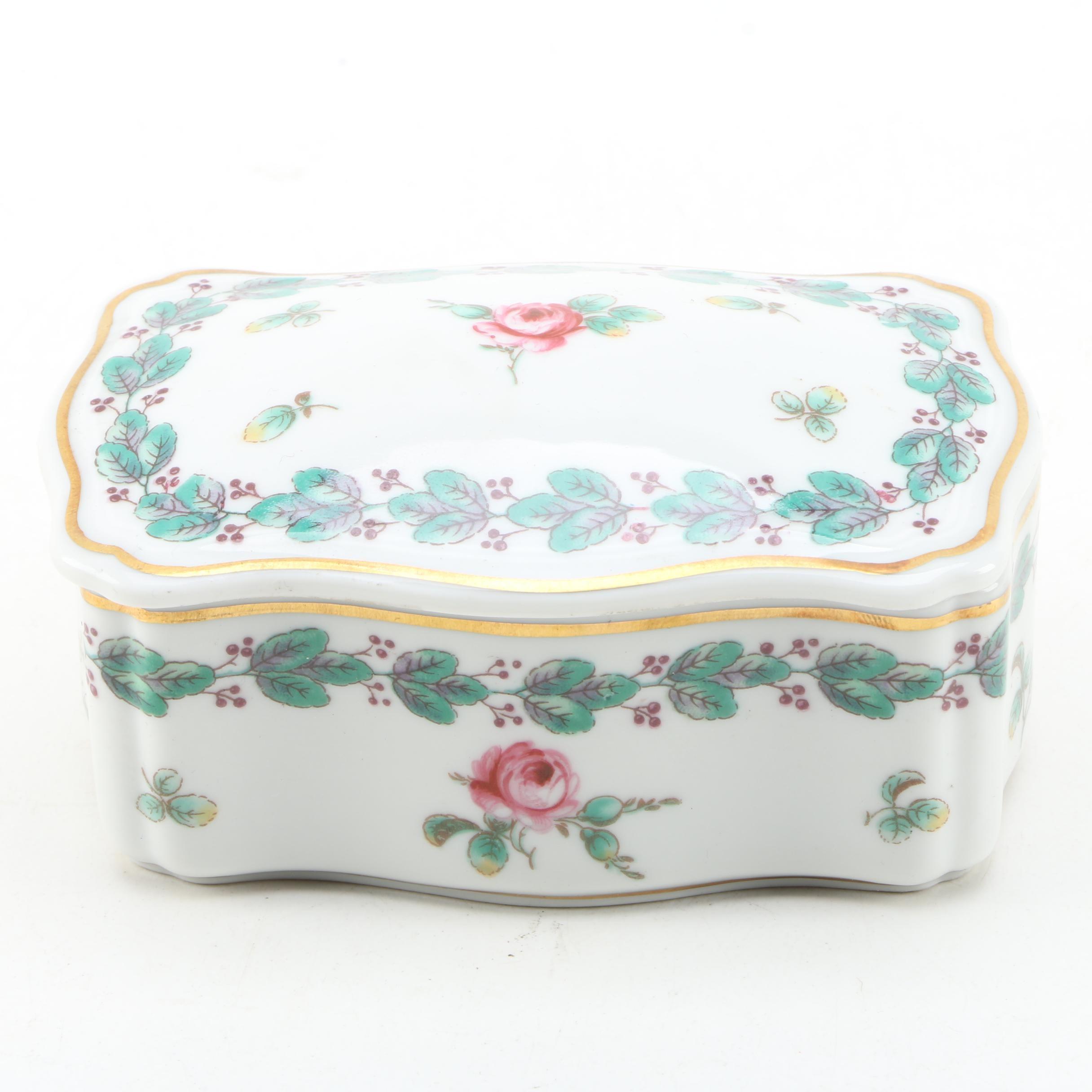 Richard Ginori Italian Porcelain Trinket Box