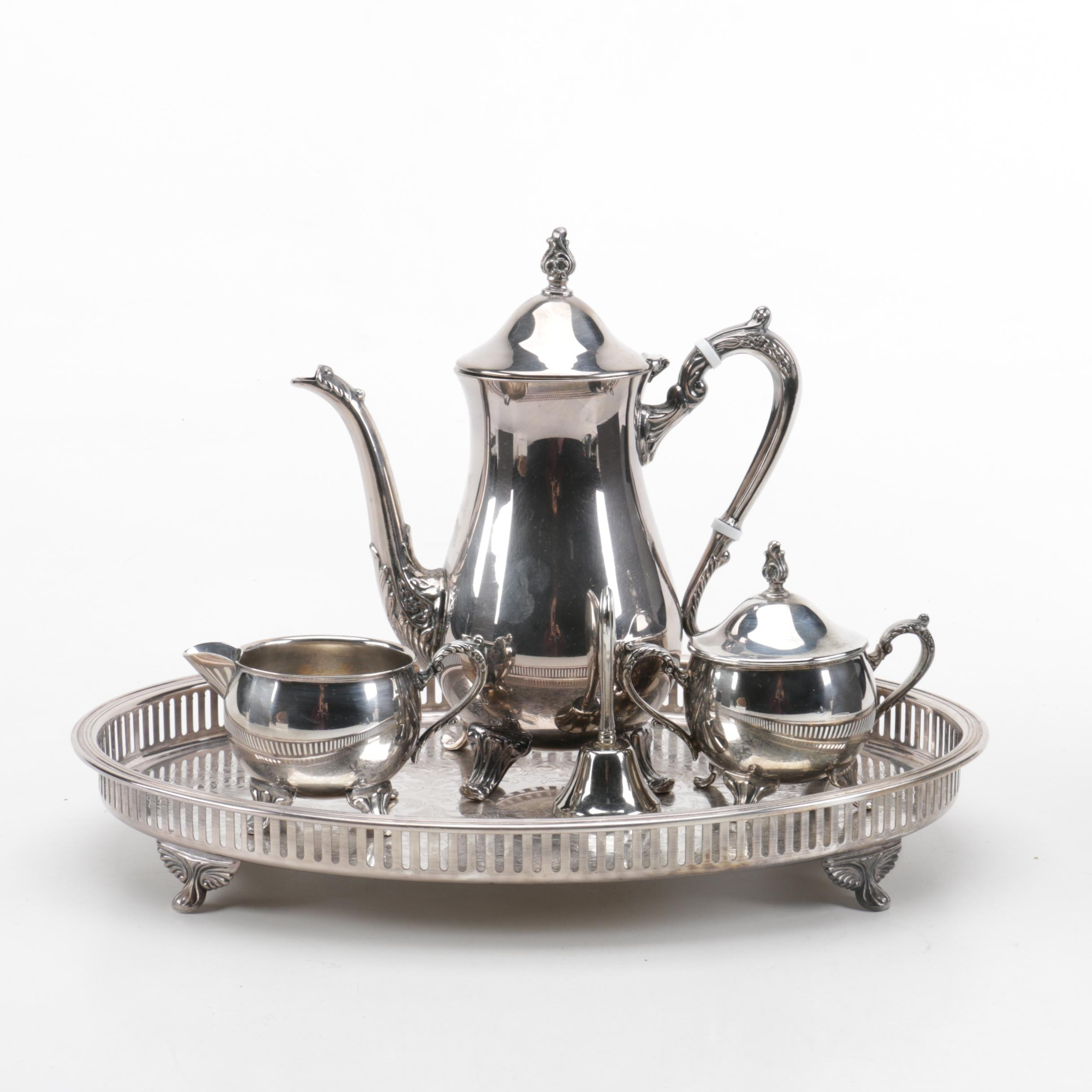 Silver Plate Coffee Service with Bristol Silver