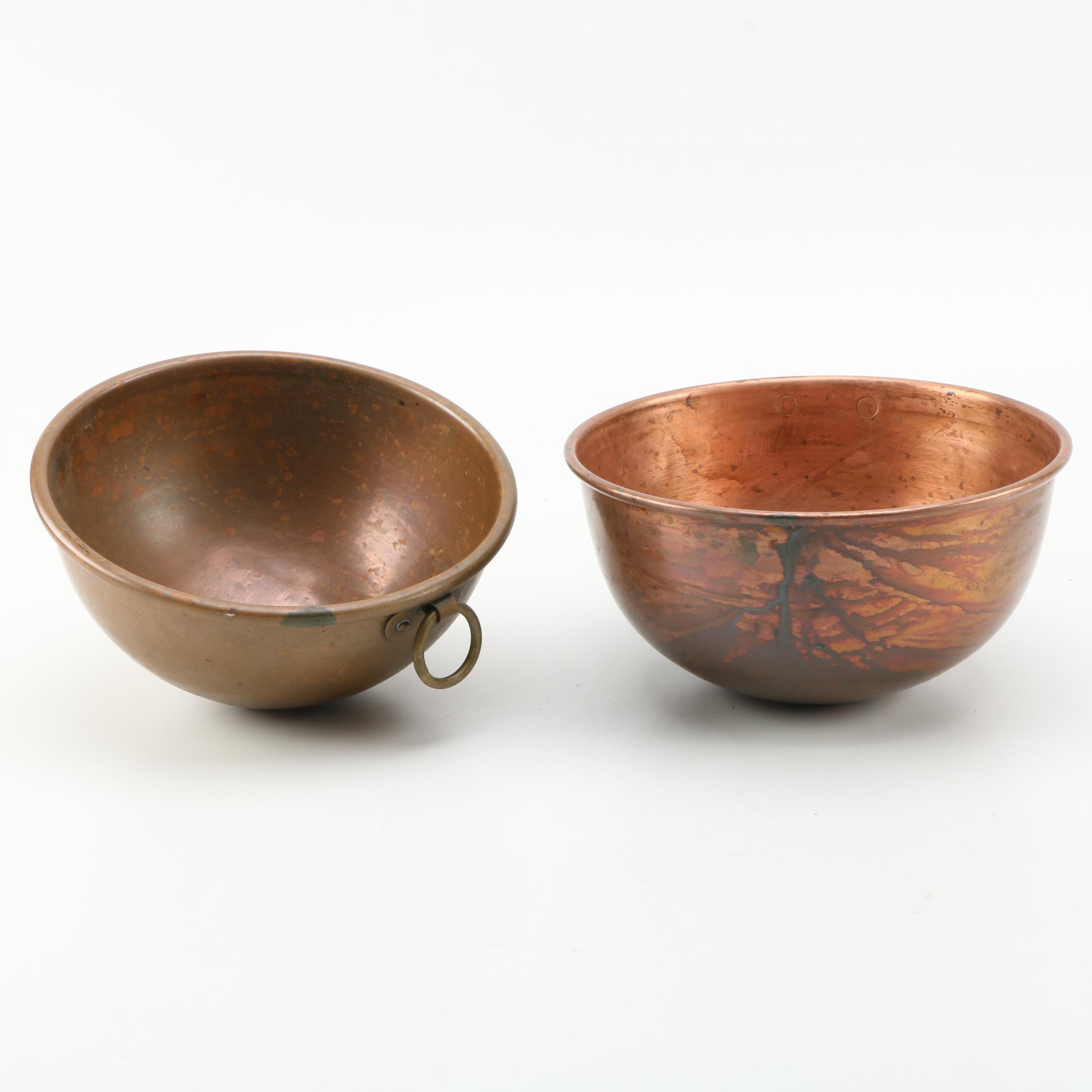 Copper and Brass Bowl Set