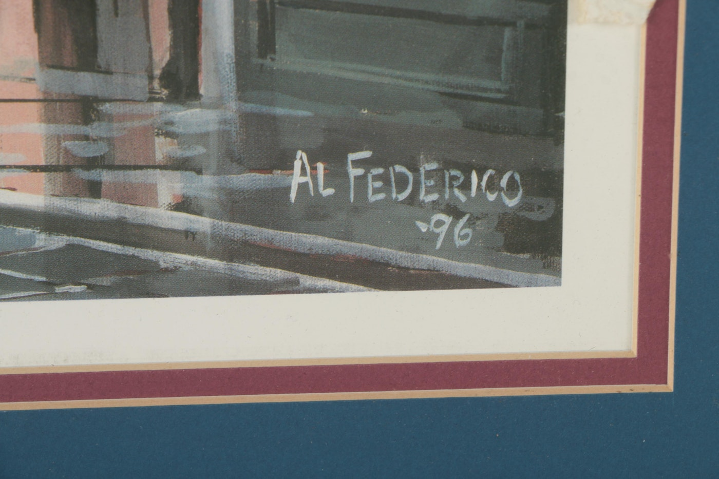"""Signature Auto Sales >> Al Federico Limited Edition Artist Proof Offset Lithograph """"Royal Street - 1890"""" : EBTH"""