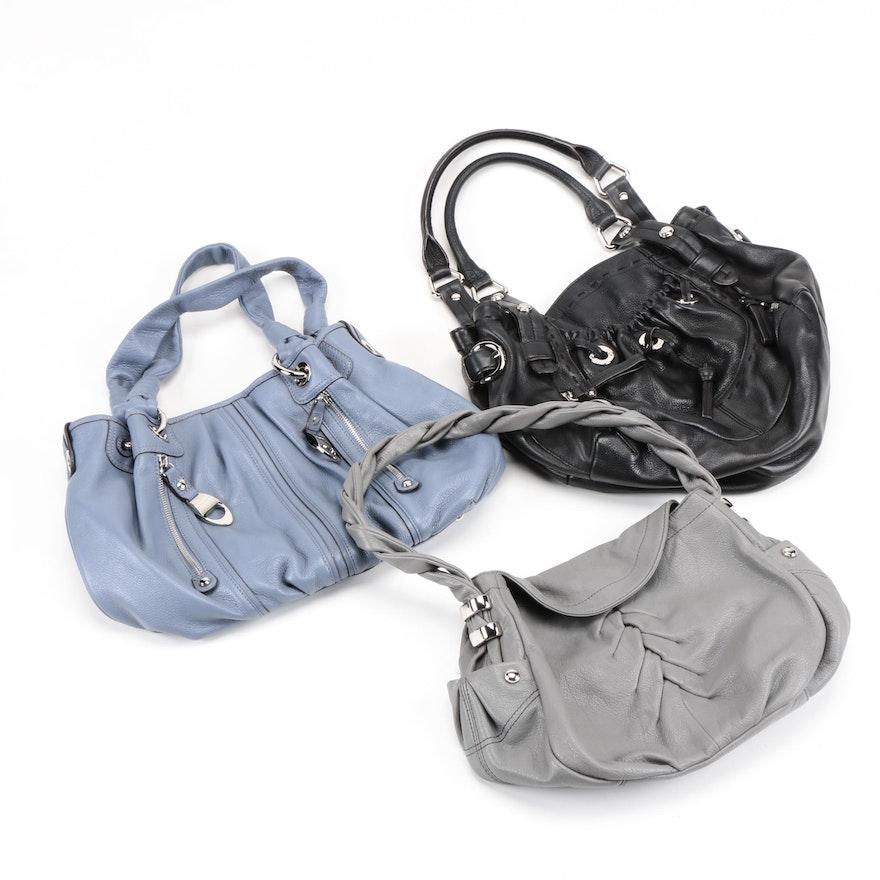 44dac618649e Three Leather B. Makowsky Handbags   EBTH