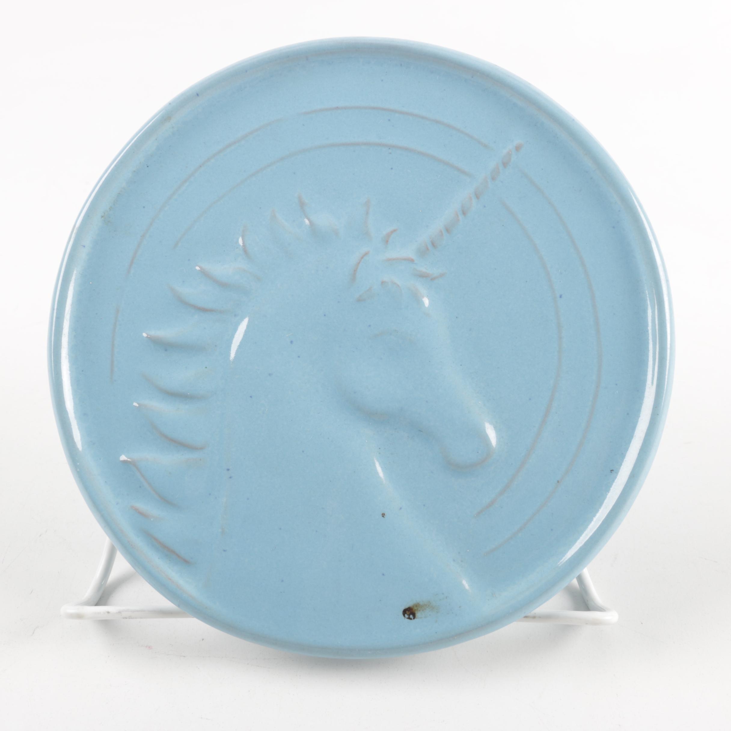 Vintage Frankoma Unicorn Plate