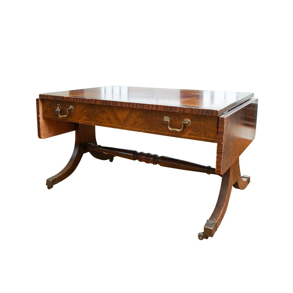 Vintage Federal Style Mahogany Drop Leaf Coffee Table