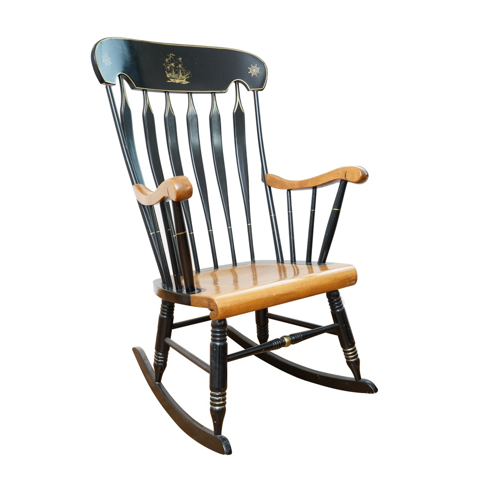 Nautical Themed Windsor Rocking Chair
