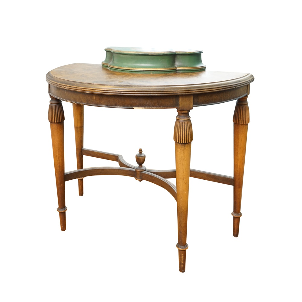 Vintage Demilune Vanity Table by Paine Furniture