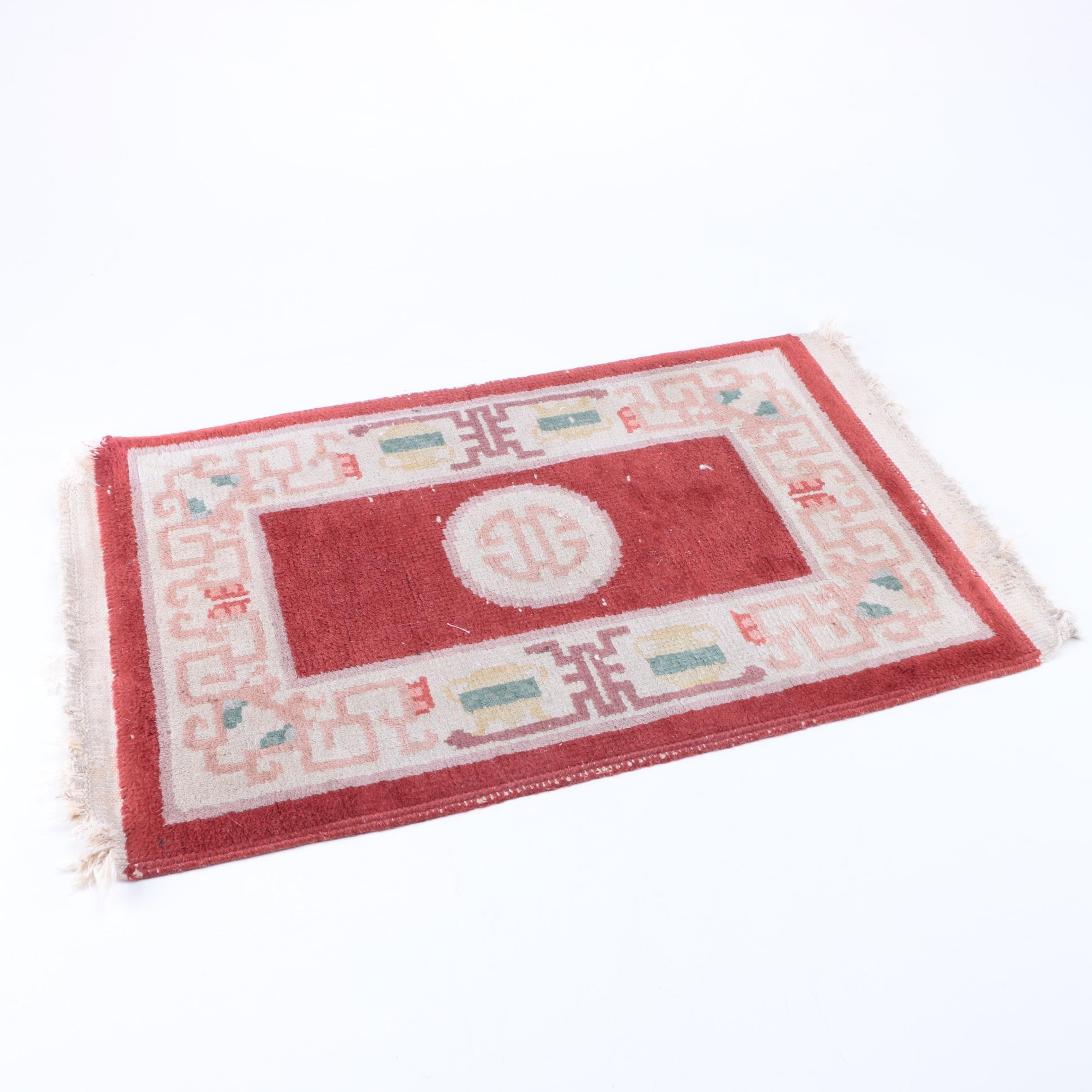 Hand-Knotted Chinese Wool Mat