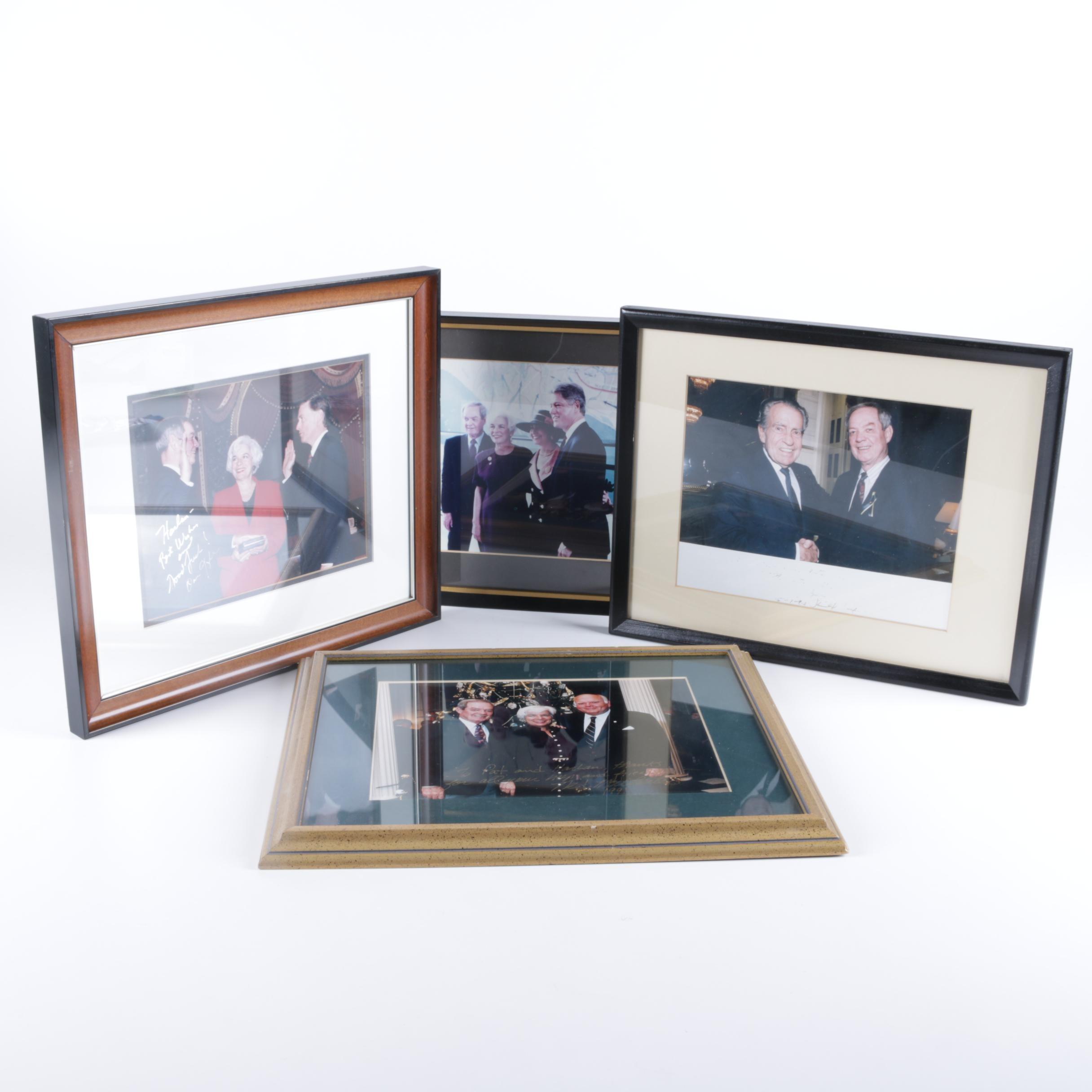Photographs of Former Senator Harlan Matthews with Various Politicians