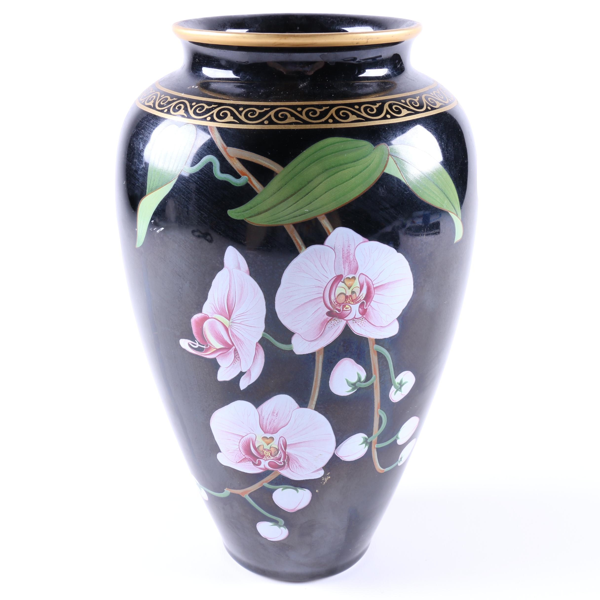 """Makoto Miyagi Japanese """"Vase of the Fragrant Orchid"""" Porcelain Vase"""