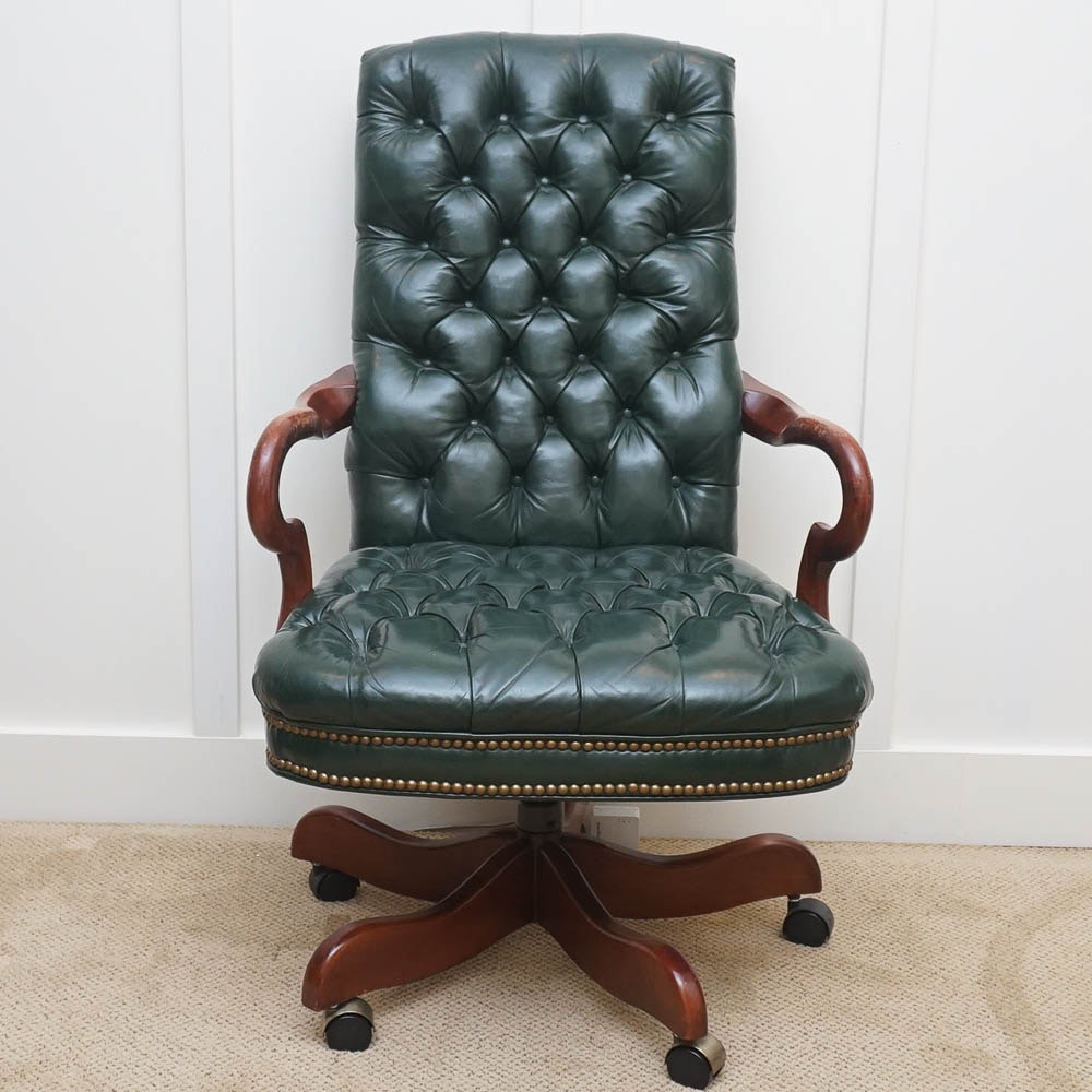 Green Leather Executive Chair