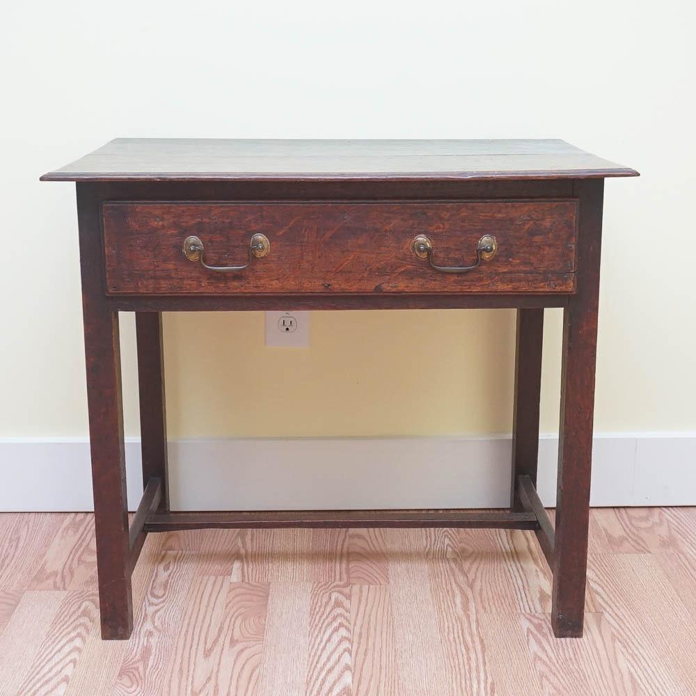 19th Century English Oak Rectangular Side Table