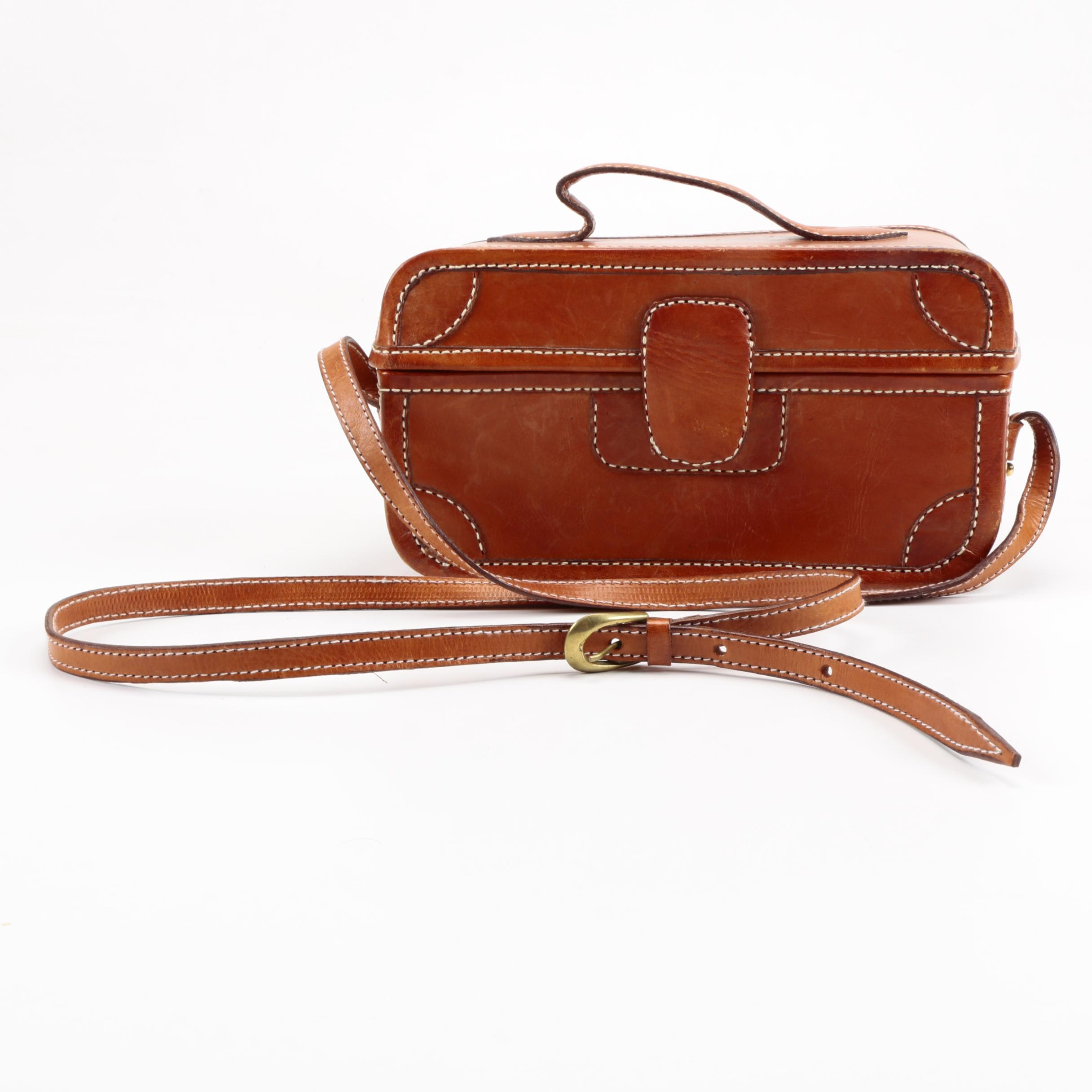Leather Crossbody Box Purse