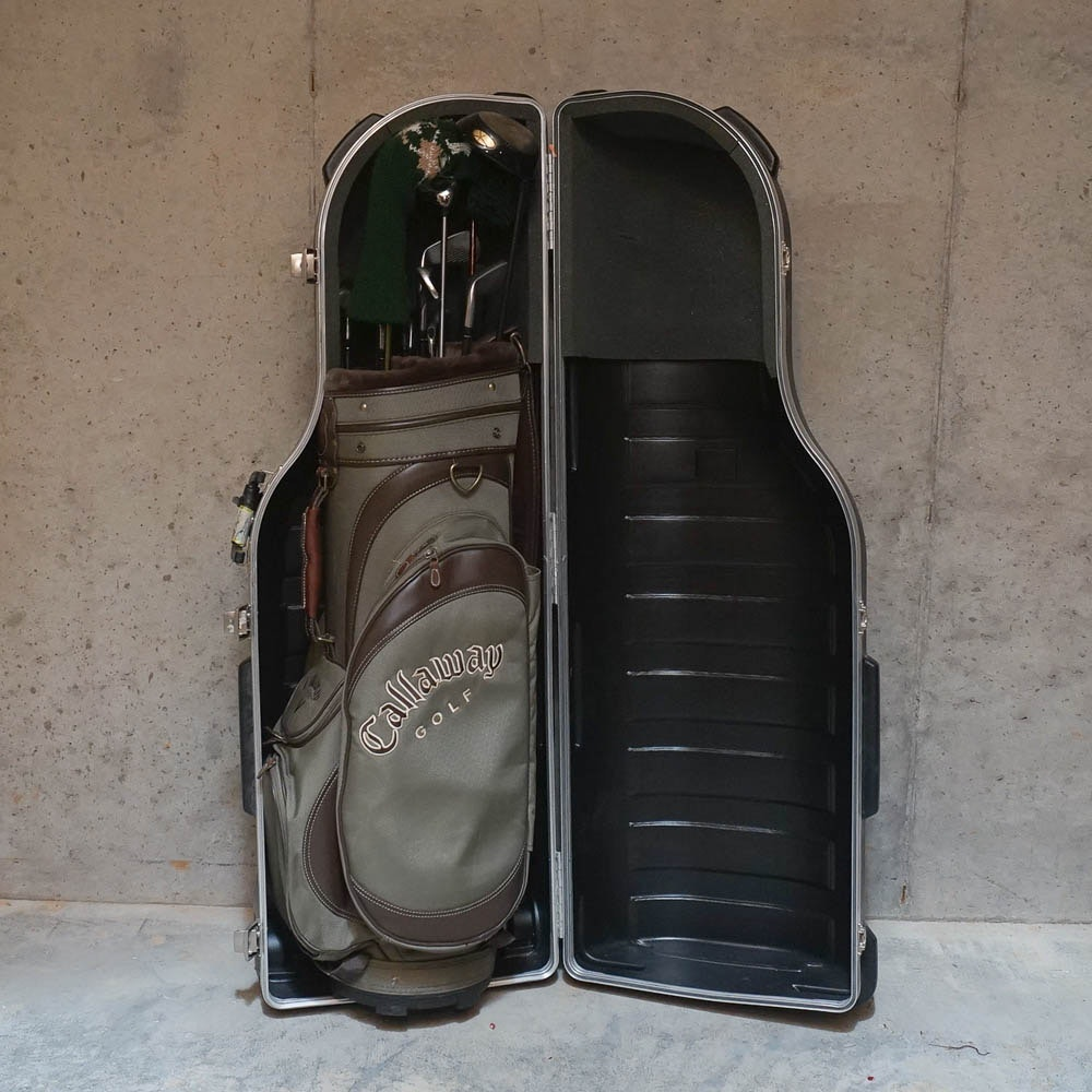 SKB Sports Travel Case with Callaway Golf Bag and Clubs