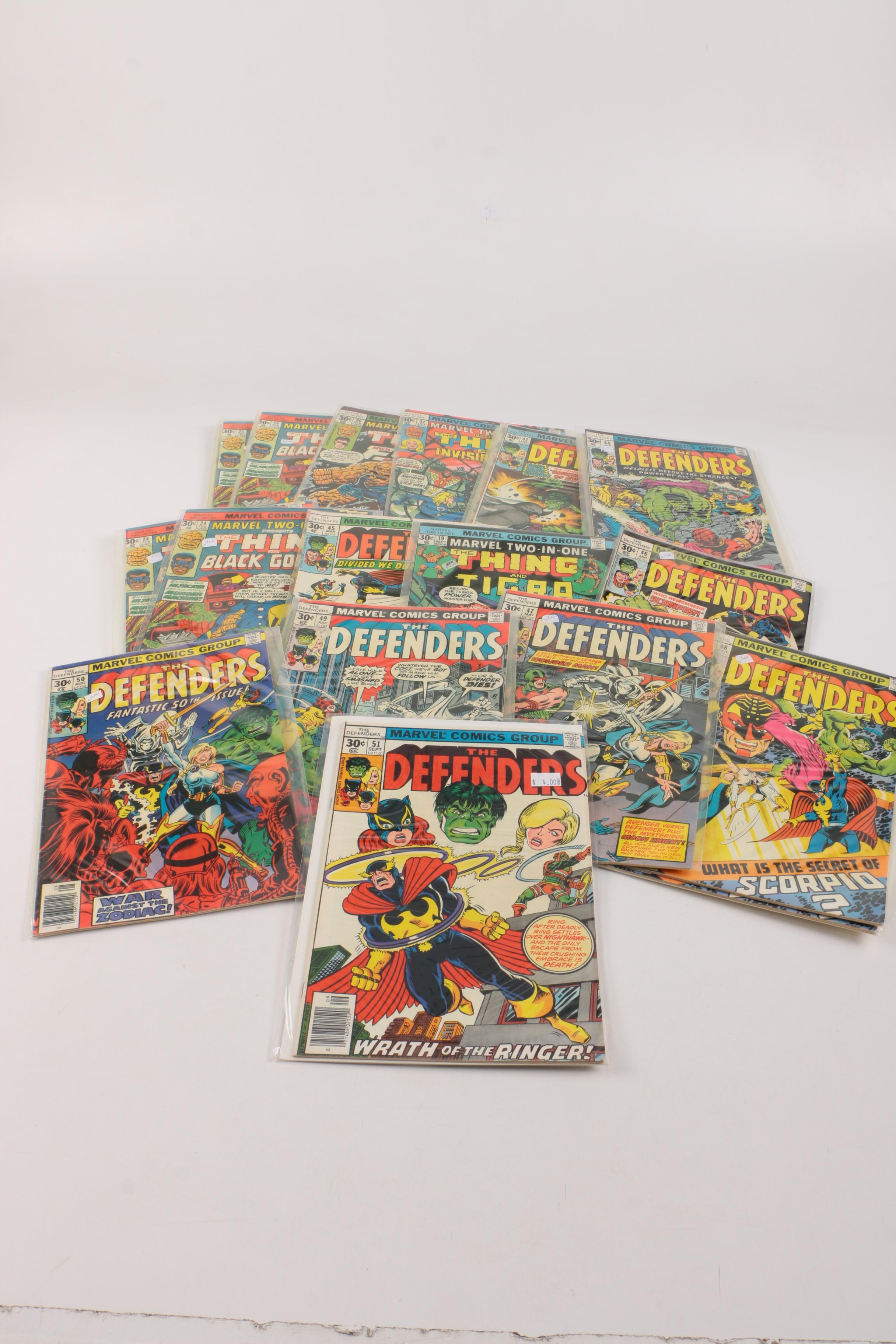 "Marvel ""Defenders"" and ""Two-In-One"" Bronze Age Comics"