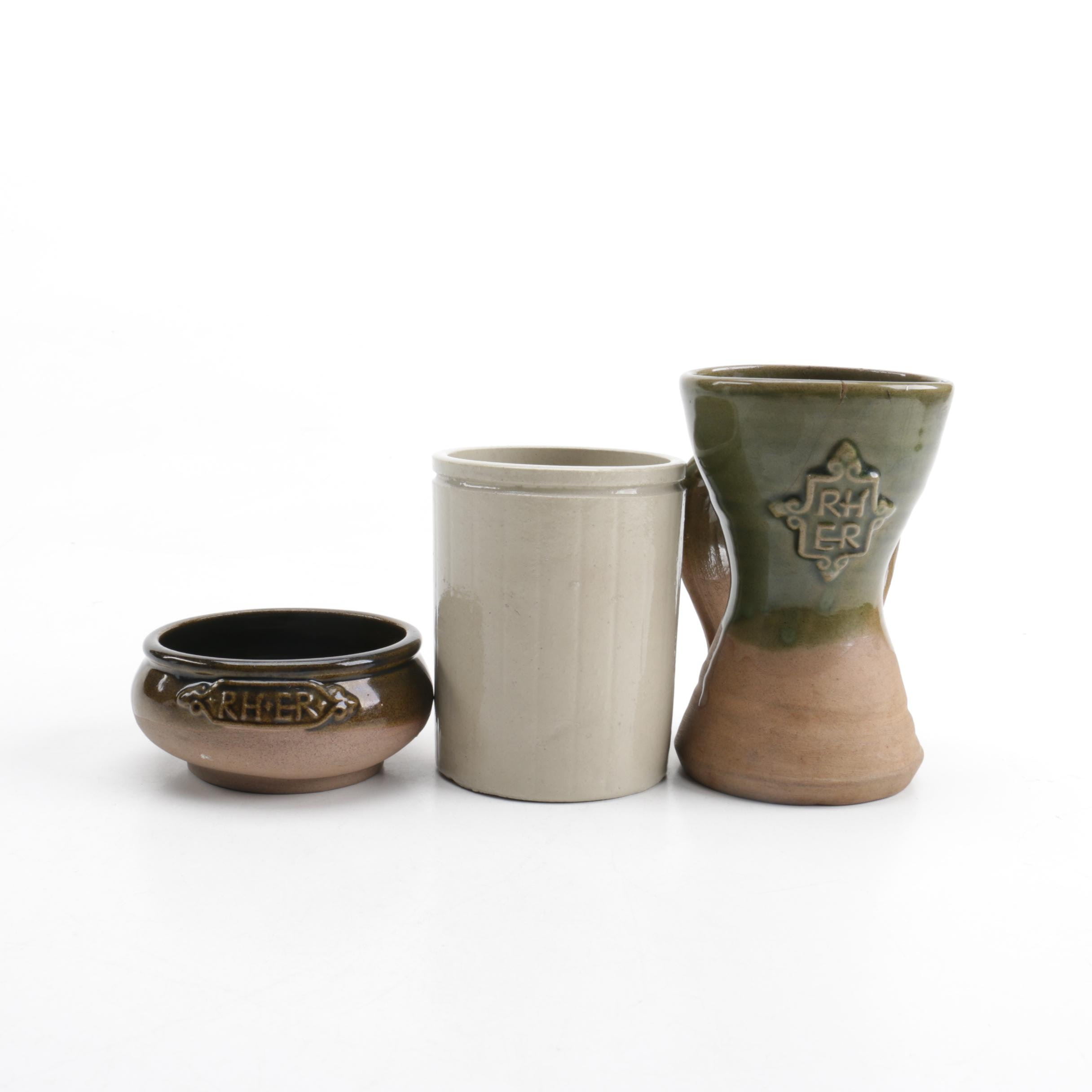 Pottery Including Wm P Hartley and Elizabethan Rooms