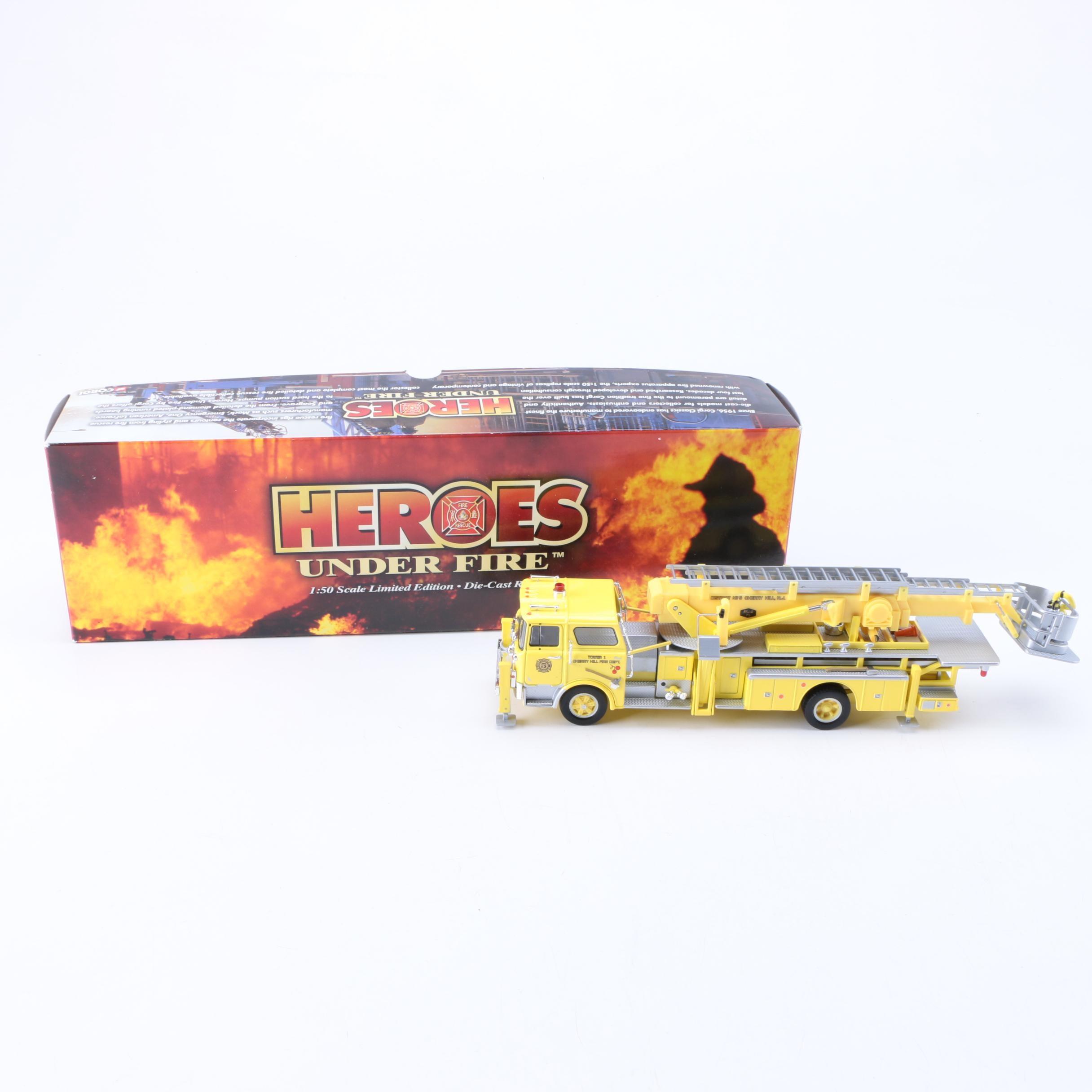 "Corgi ""Heroes Under Fire"" Die-Cast Firetruck"