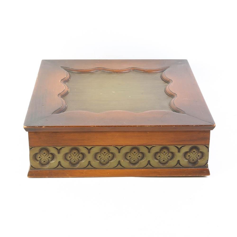 Vintage Oak Vanity Box