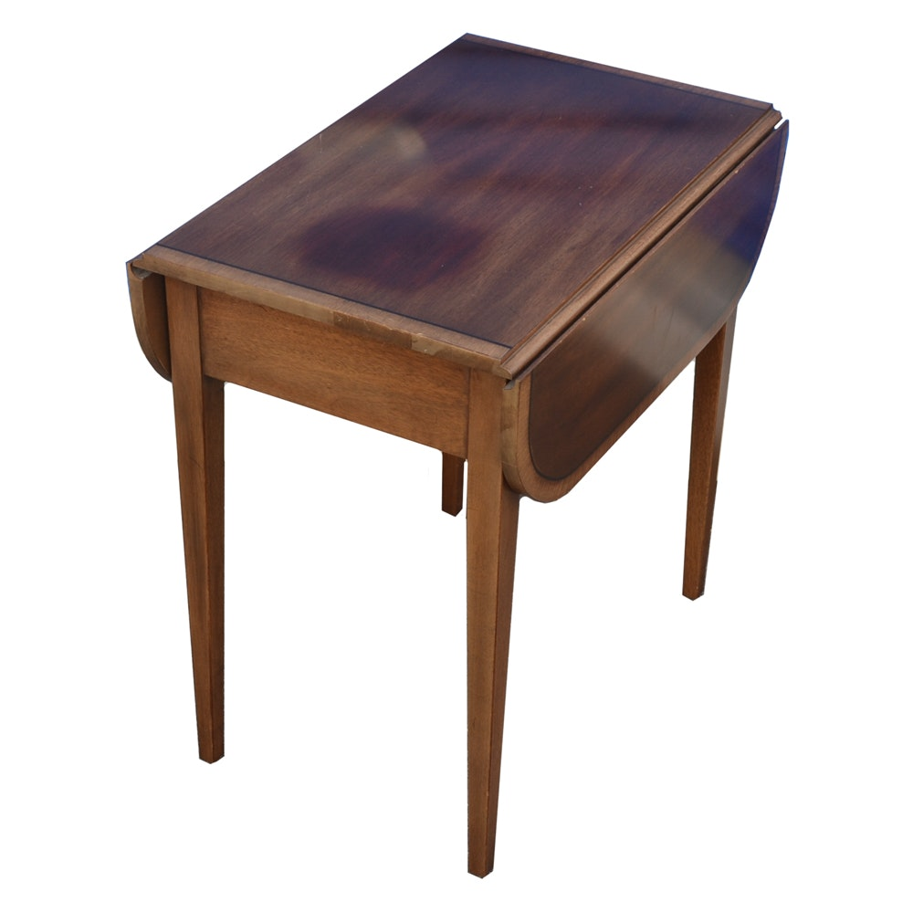 Mahogany Drop Leaf End Table