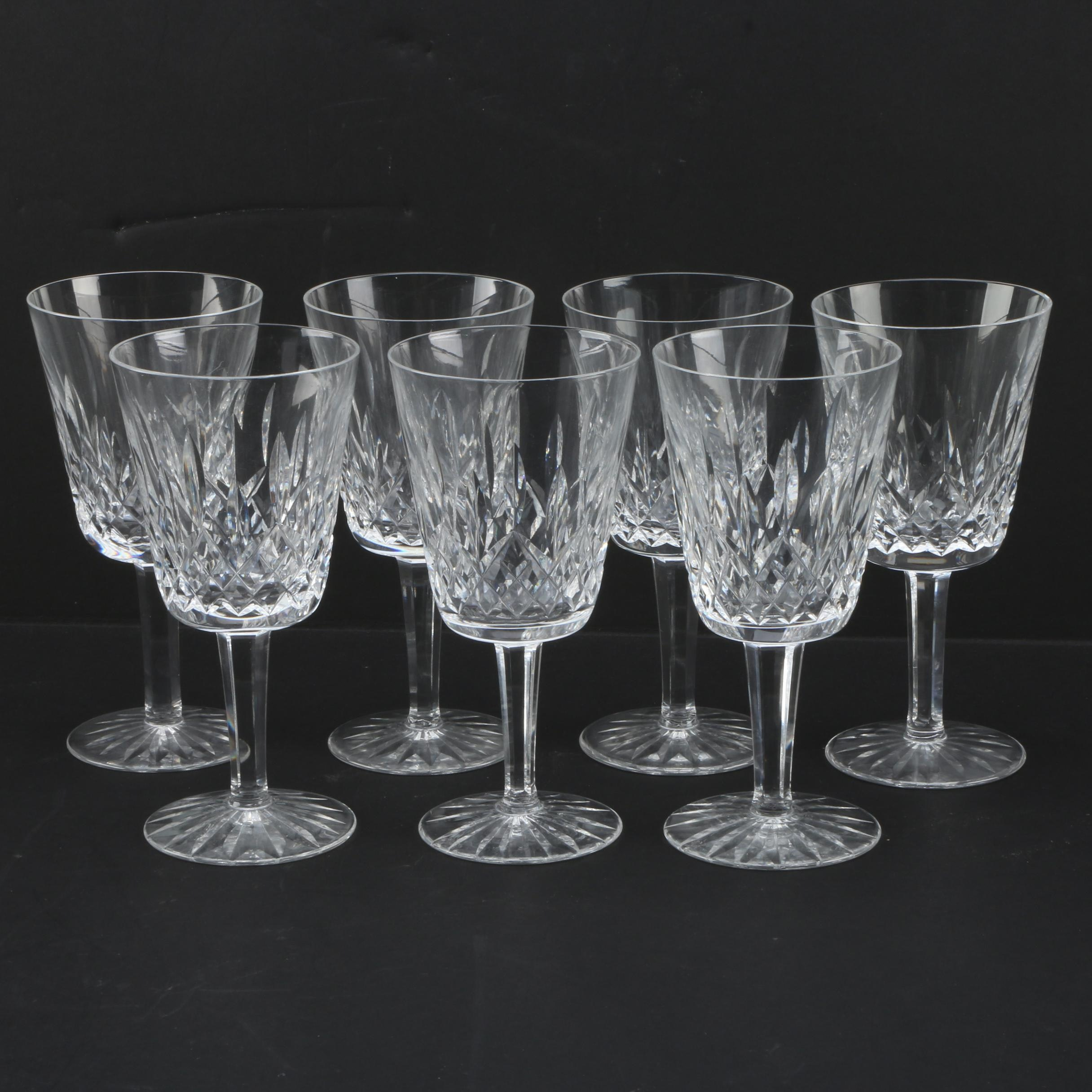 "Waterford ""Lismore"" Crystal Glasses"