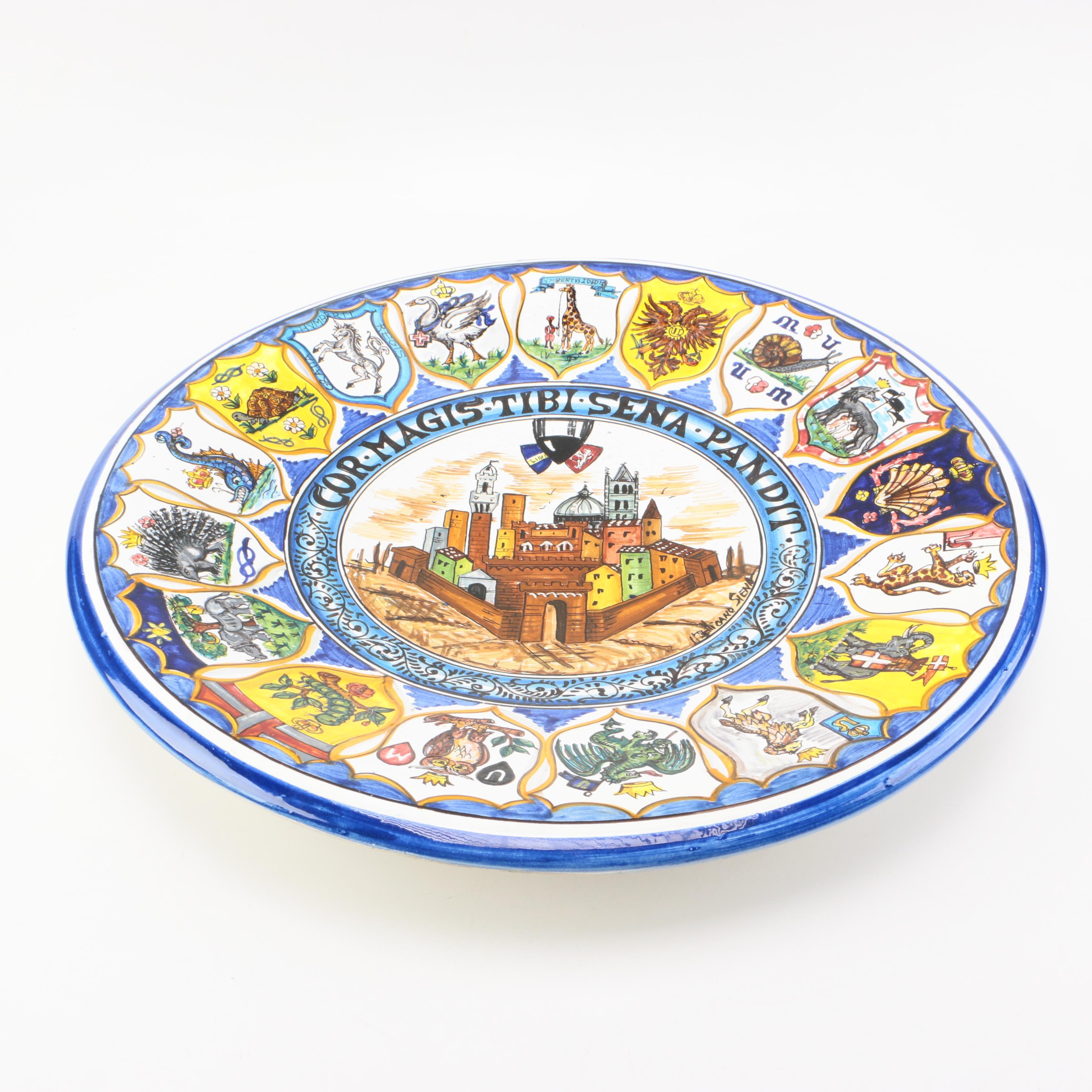 Tesori Di Siena Coat of Arms Plate