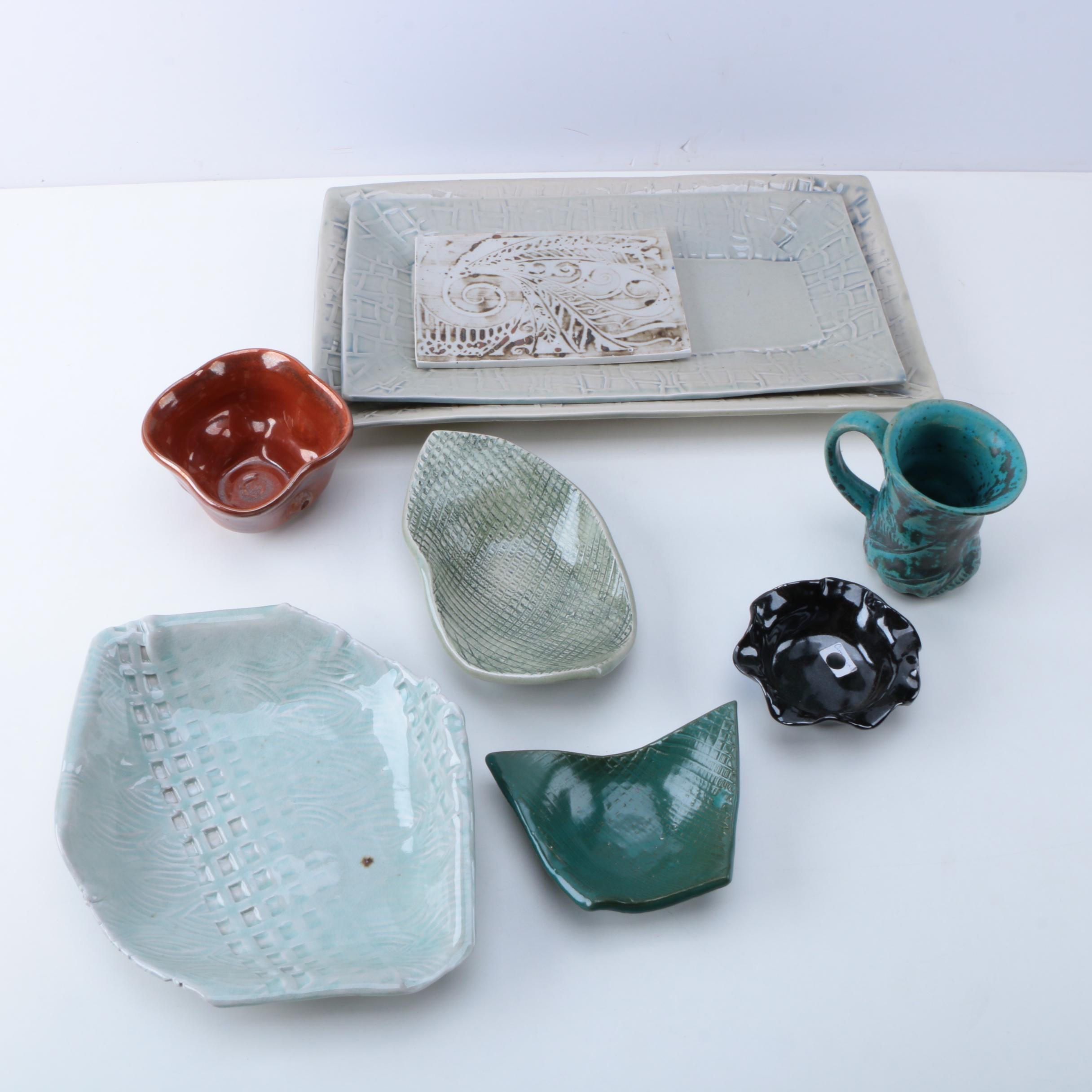 Handbuilt and Thrown Stoneware Tableware by Cimmino