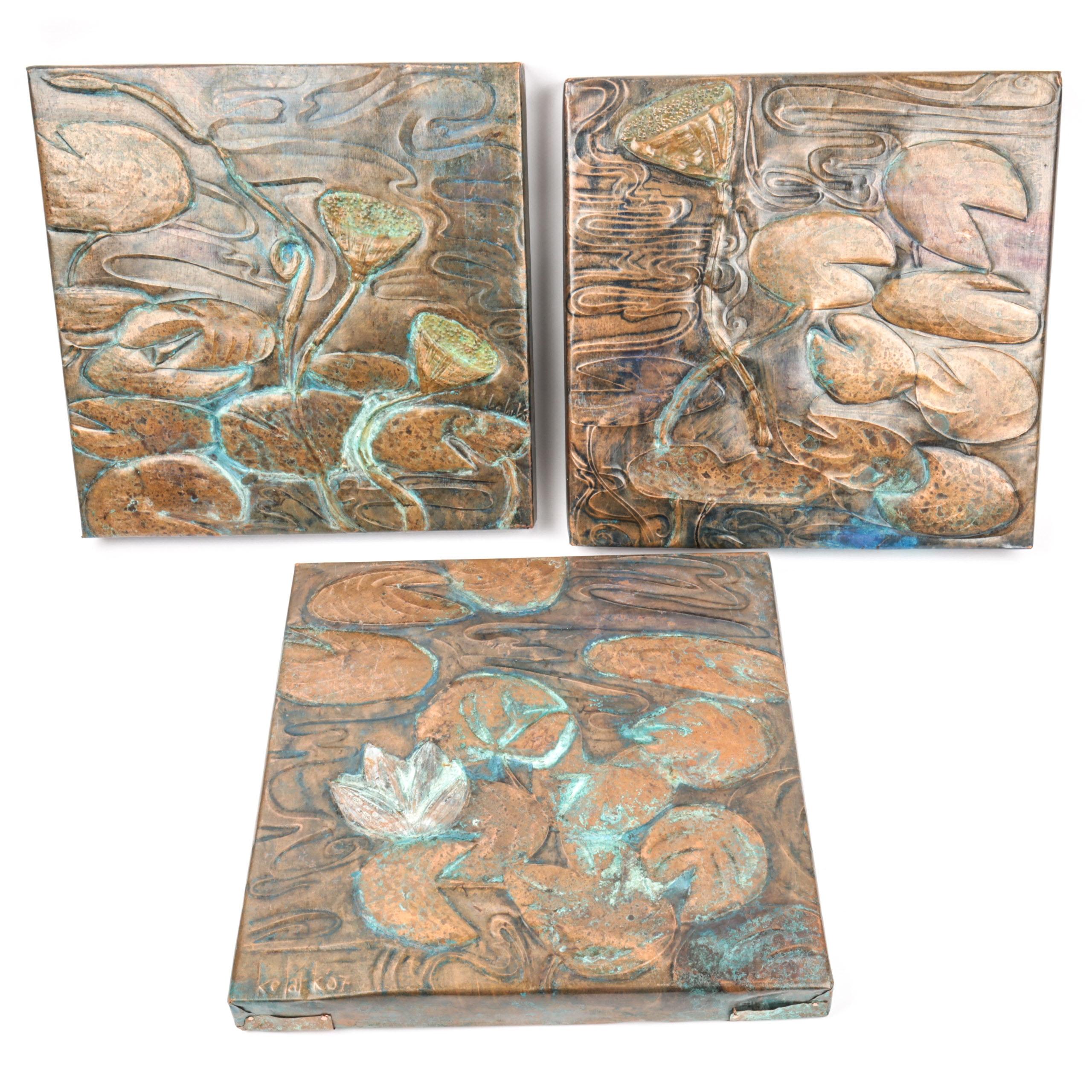 Katy Clark Triple Panel Wall Art Piece