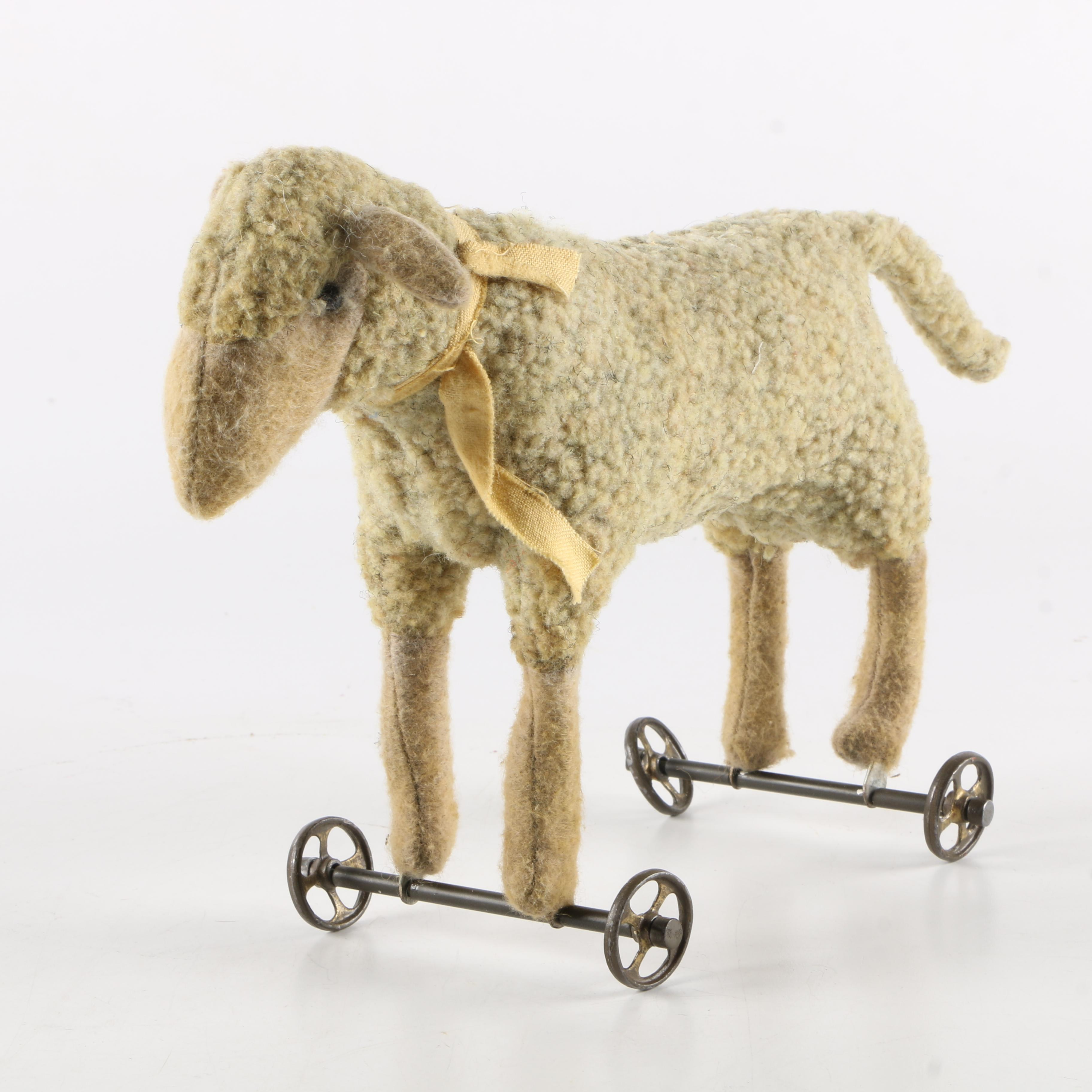 Vintage Rolling Sheep Toy