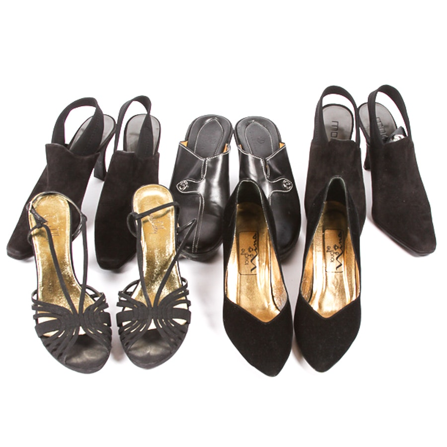 Collection of Women's Black Heels Including Cole Haan