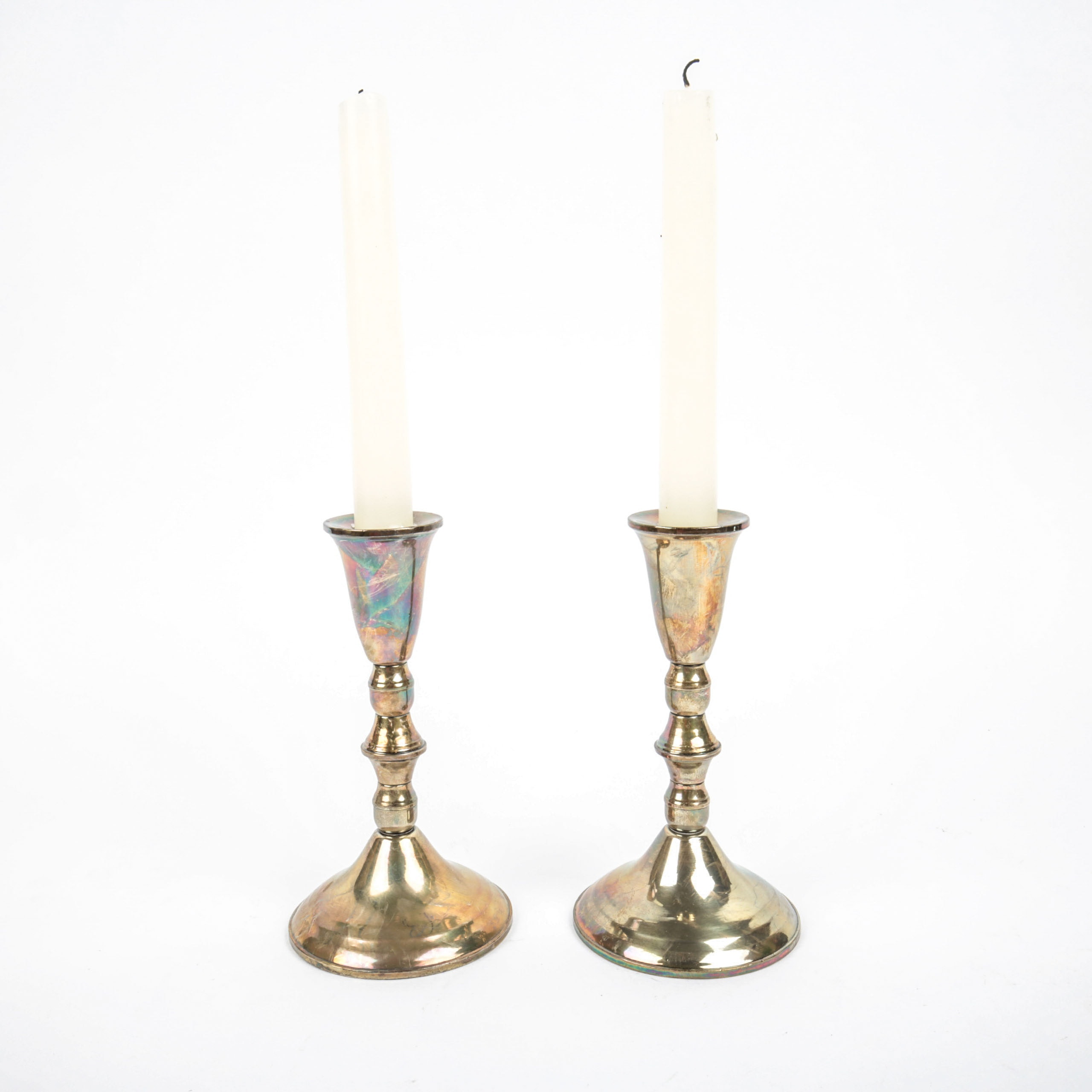 Pair of Duchin Creation Weighted Sterling Silver Candlesticks