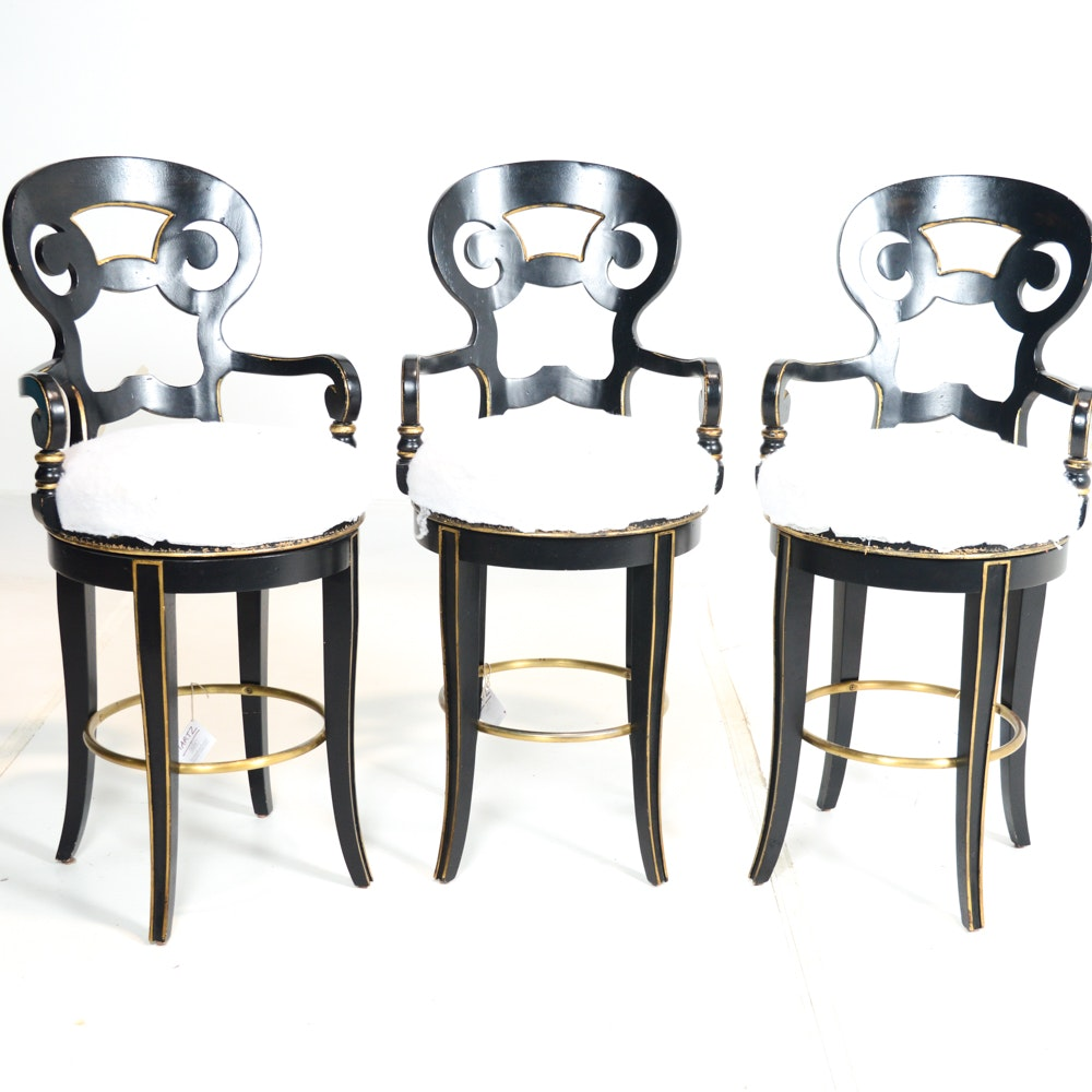 Century Bar Chairs with Swivel Return