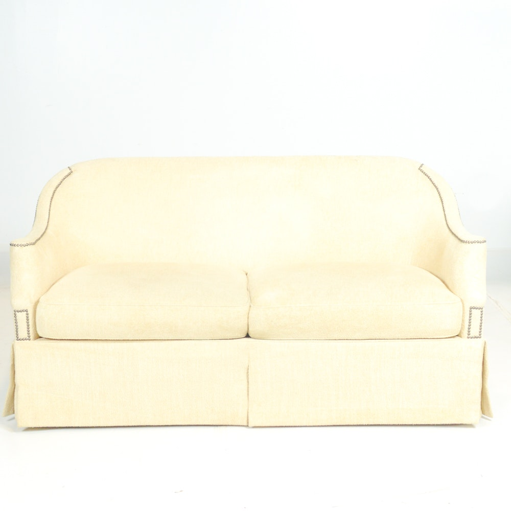 Cream Sofa with Nailhead Trim by Hickory Chair Co.