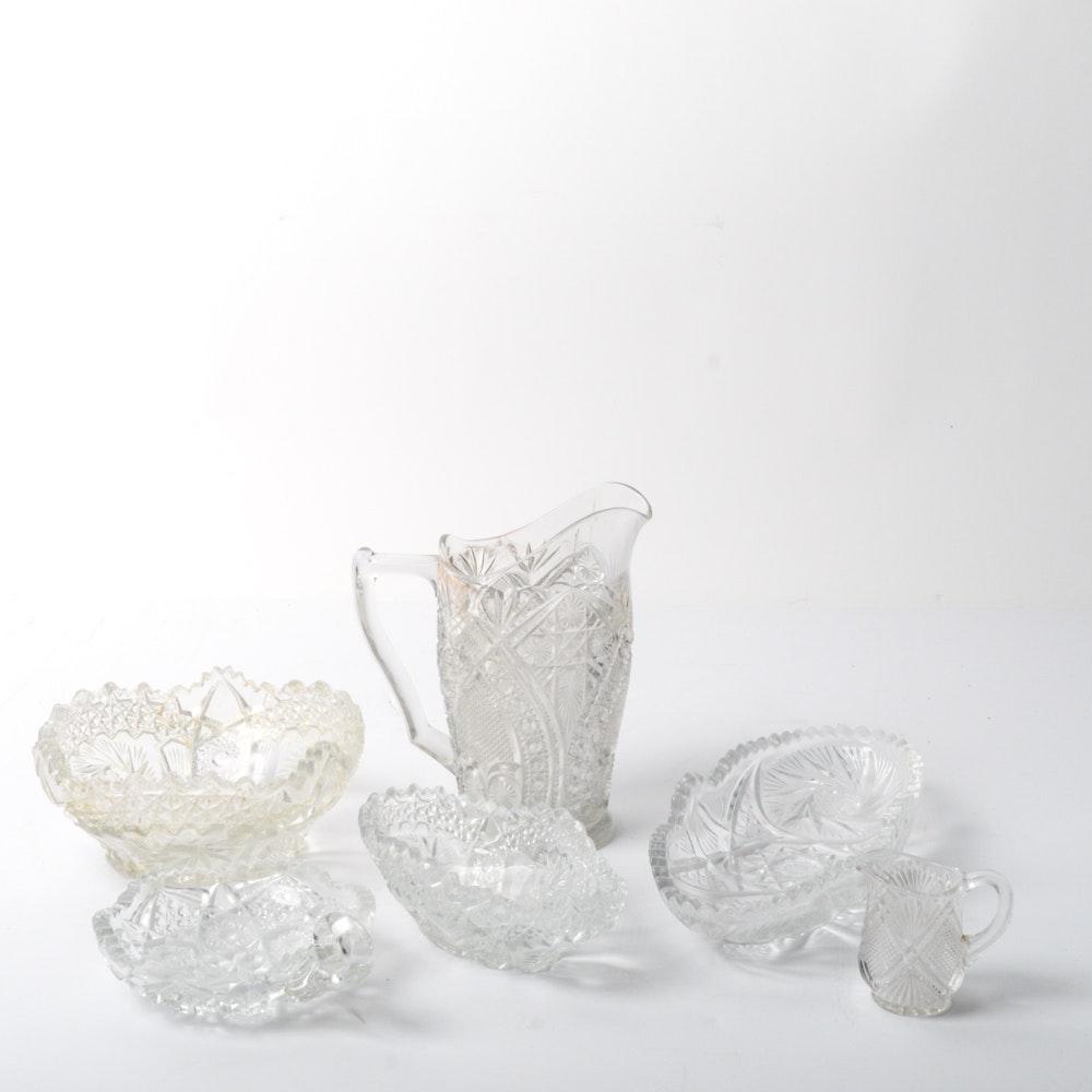 American Brilliant Cut Style Glassware Collection