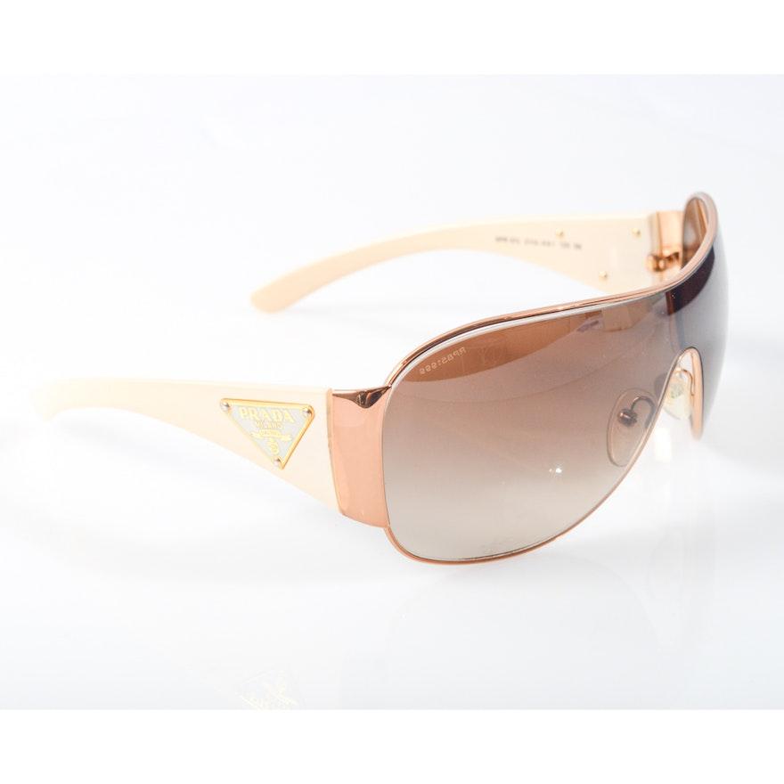 af1ca42c42672 Prada Shield Gradient Sunglasses   EBTH