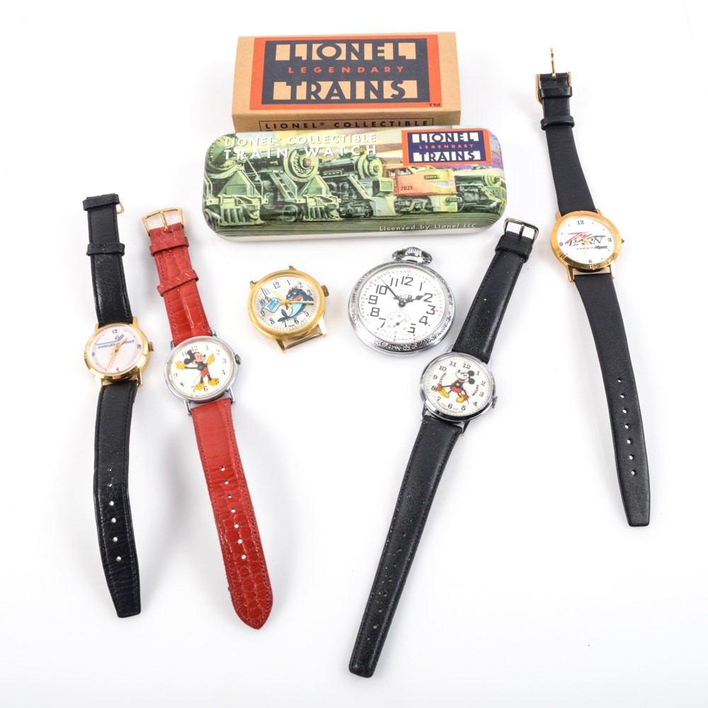 Wristwatch Assortment Featuring Mickey Mouse