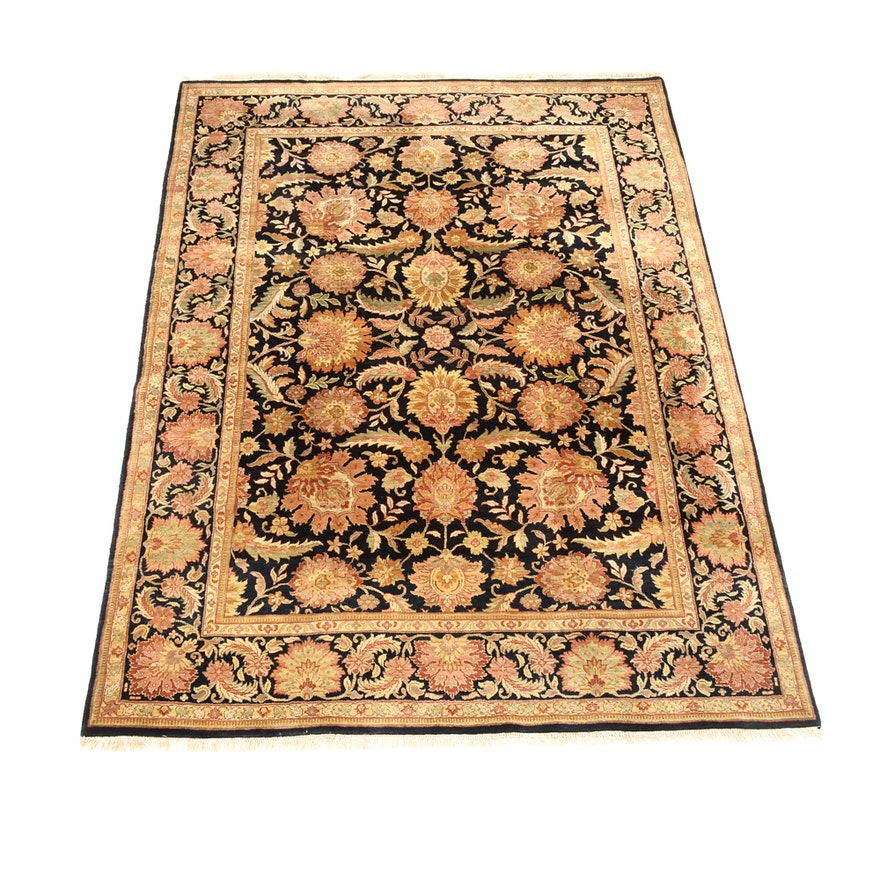 Hand Knotted Persian Wool Area Rug Ebth: Indo-Persian Hand Knotted Wool Area Rug