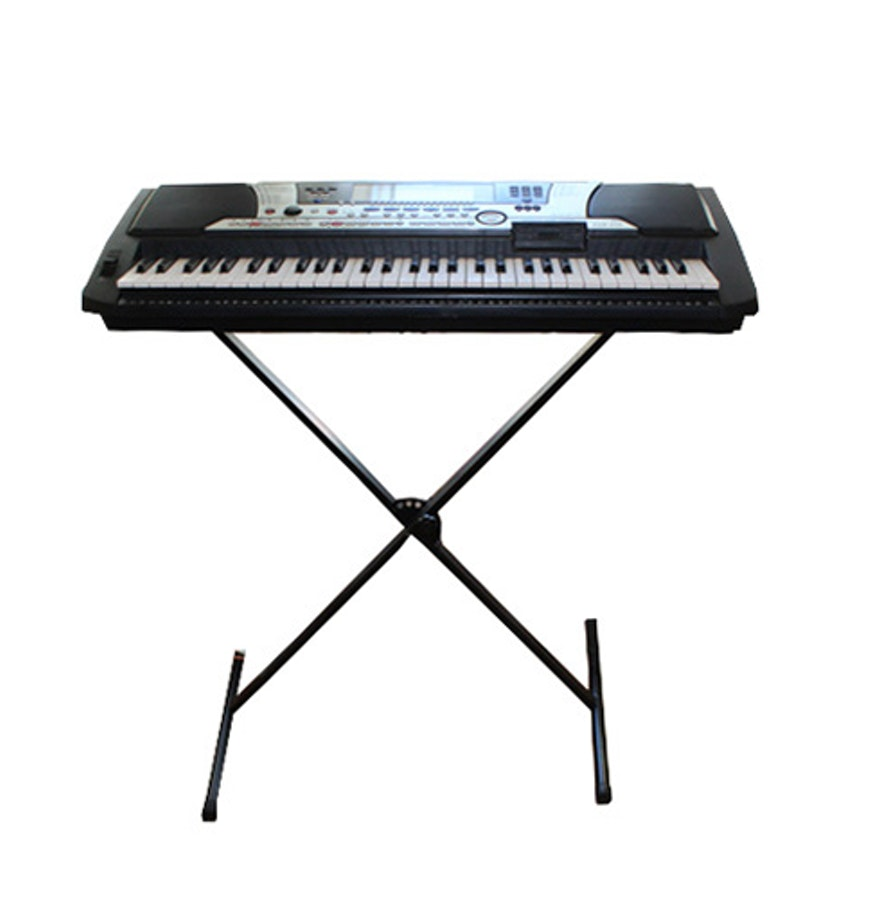 yamaha portatone electronic keyboard ebth. Black Bedroom Furniture Sets. Home Design Ideas