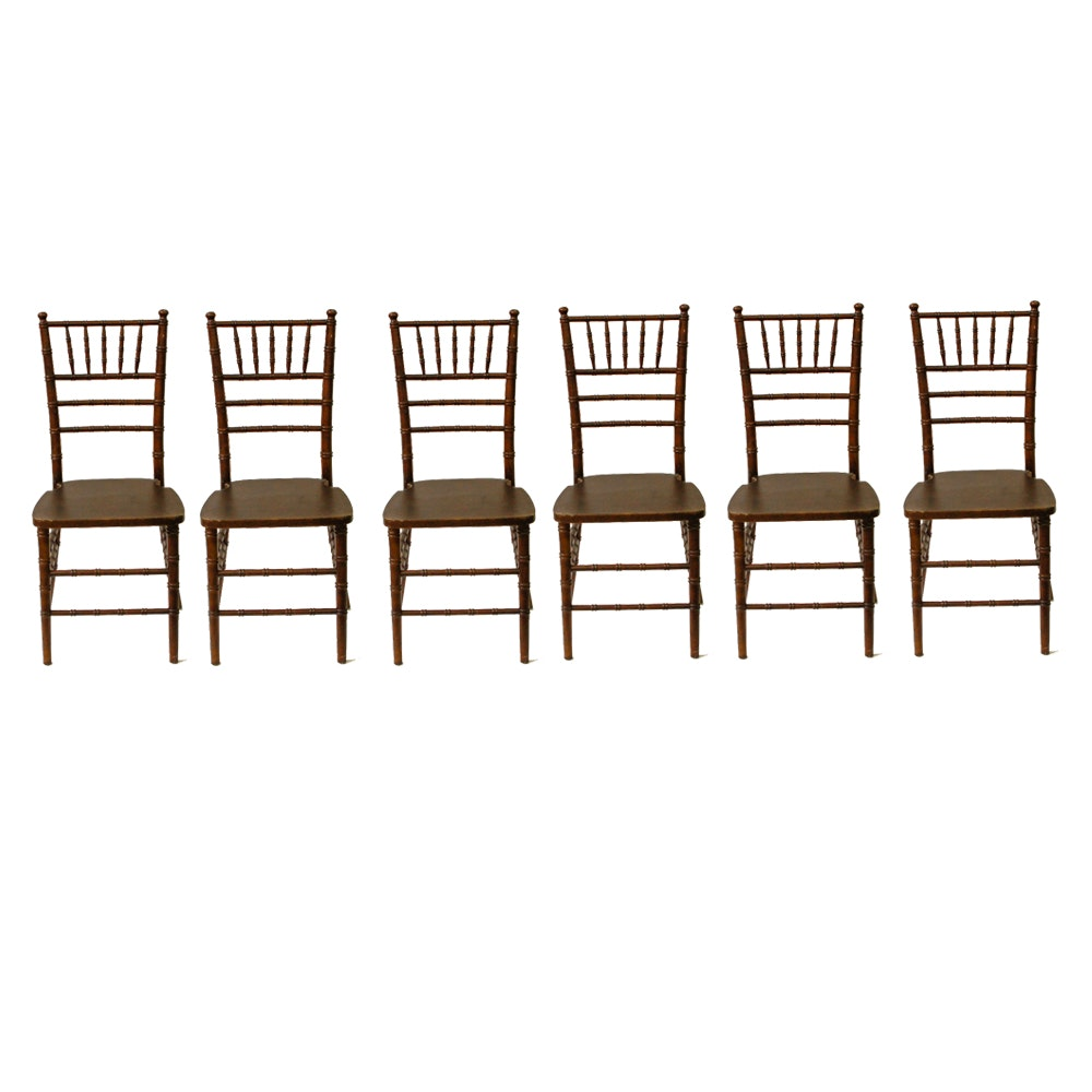 Set of Six Chiavari Style Chairs